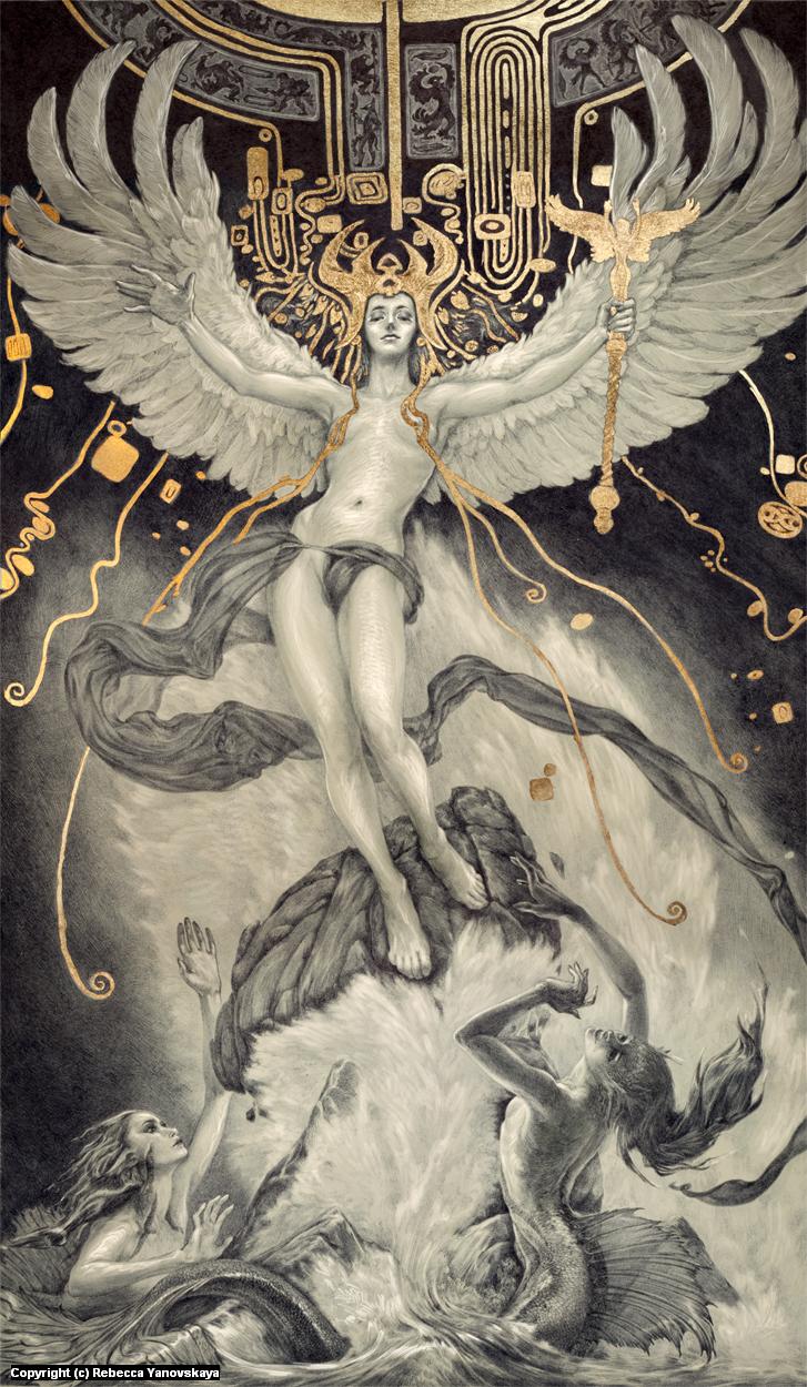 Ascent of Man and the Destruction of Magic Artwork by Rebecca Yanovskaya