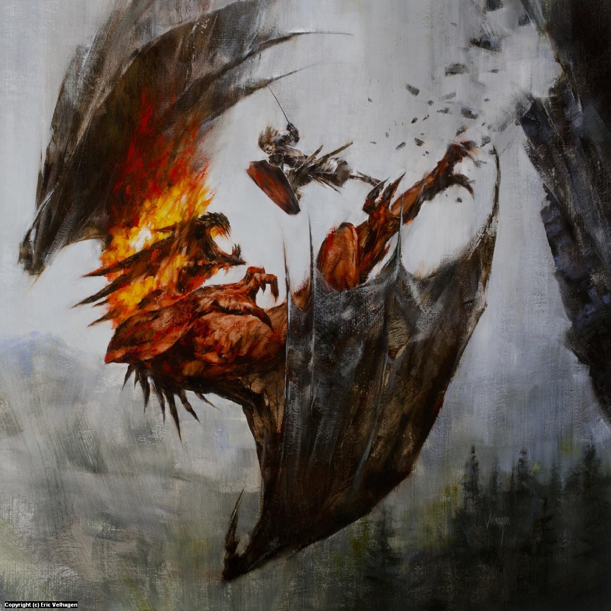 Glorfindel and the Balrog Artwork by Eric Velhagen