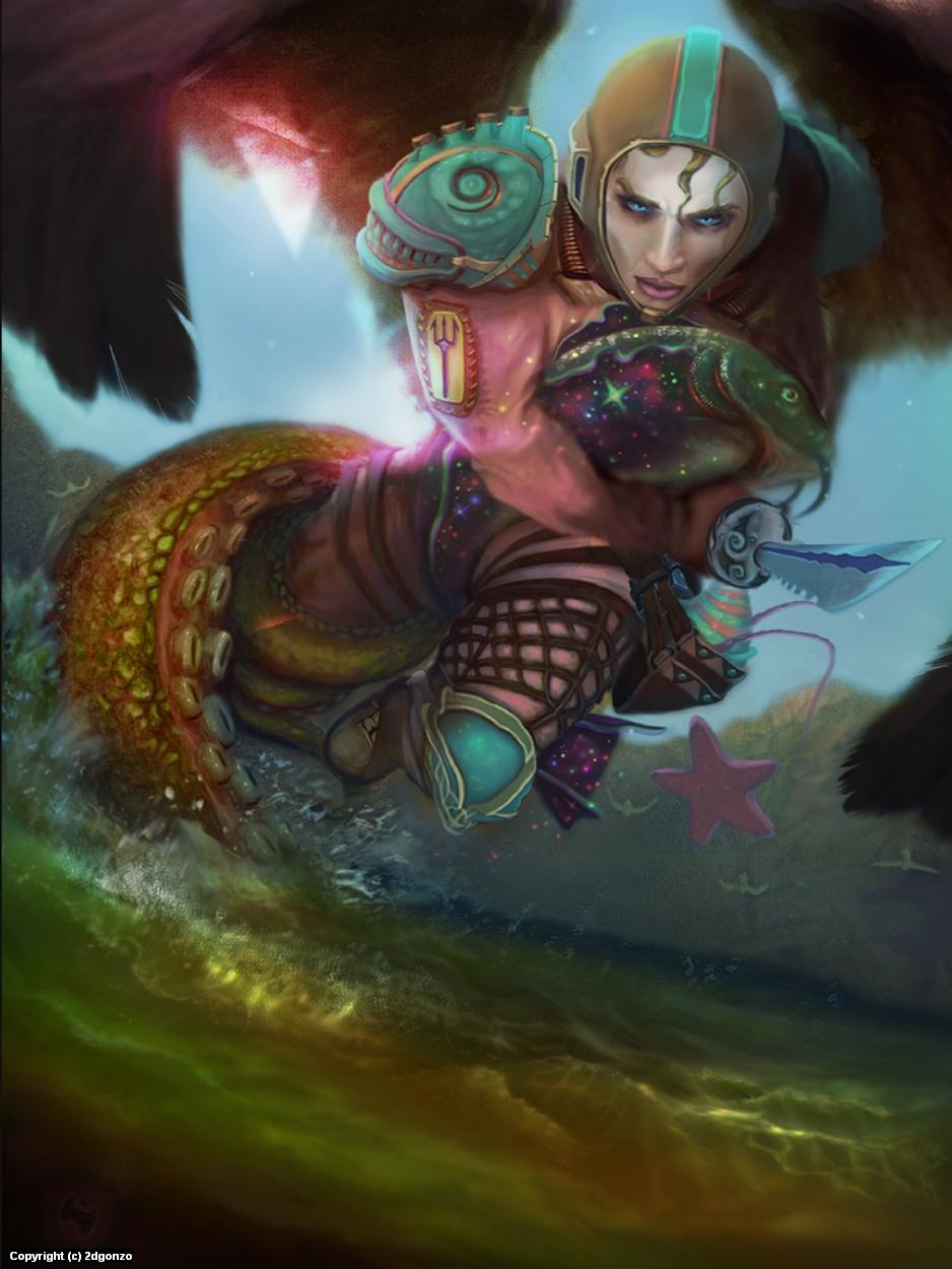 Pescadora Artwork by Edward Gonzalez