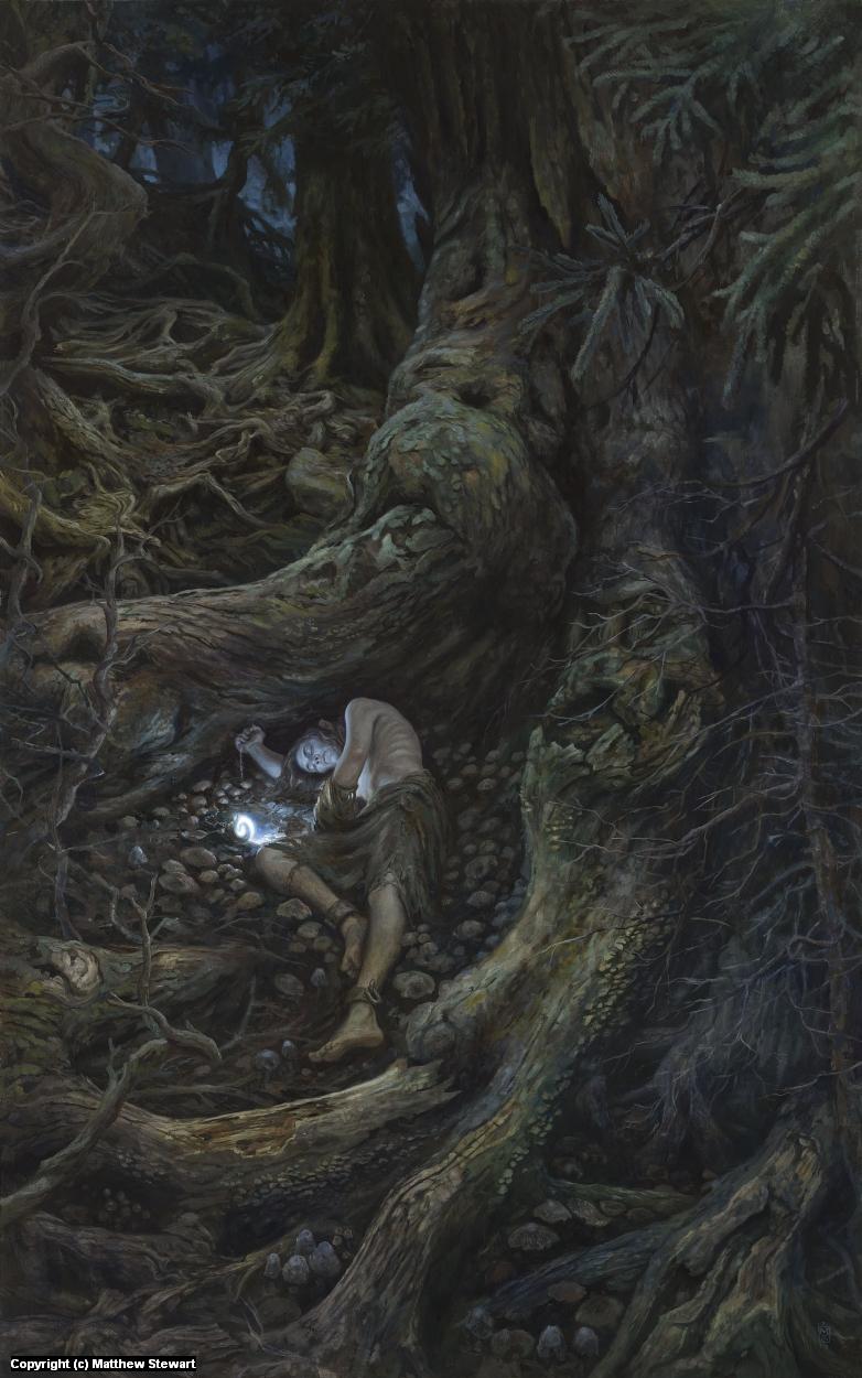 In the Forest Under Night: Gwindor in Taur Nu Fuin Artwork by Matthew Stewart