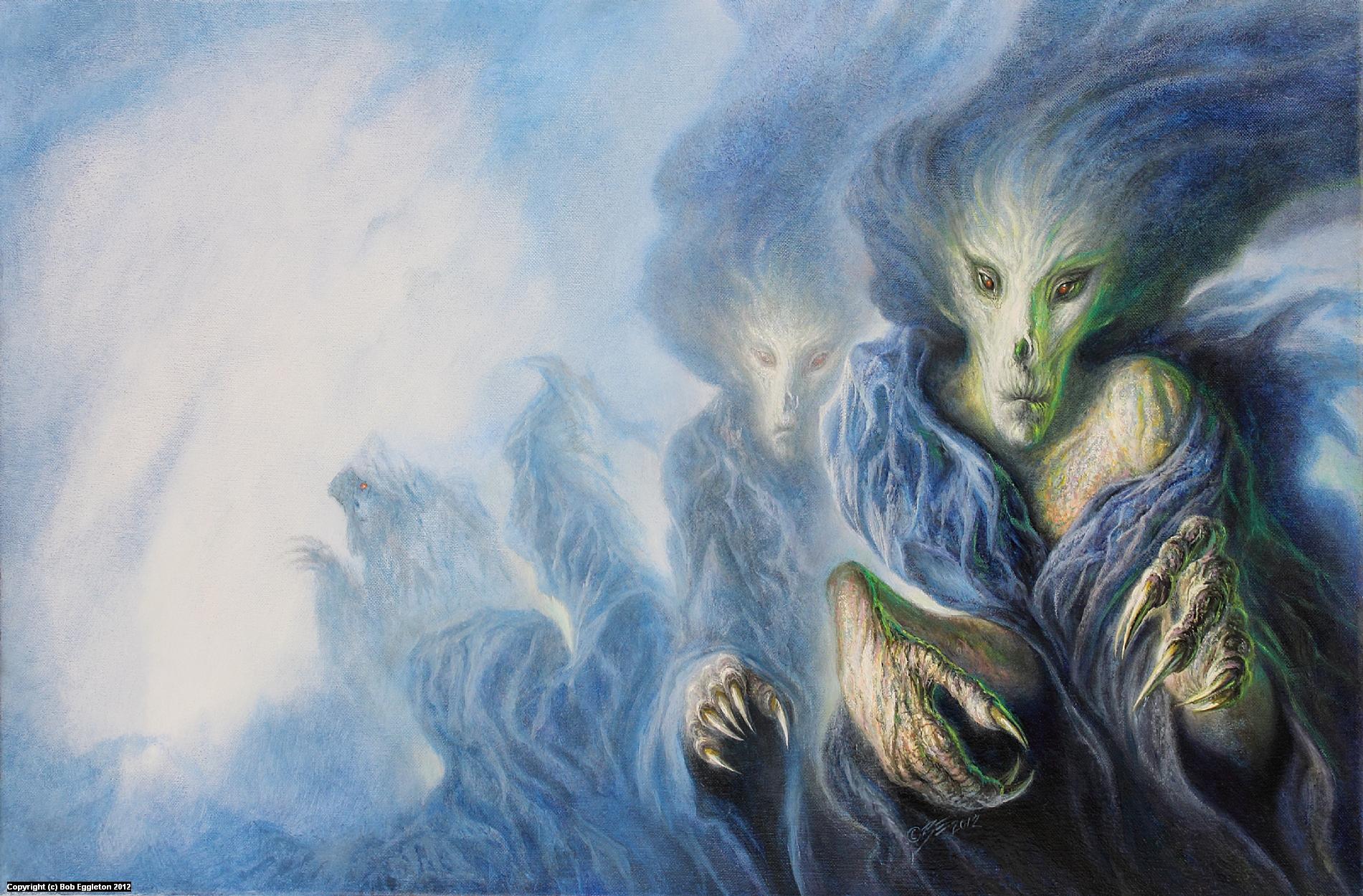 INDIGNITIES OF THE FLESH Artwork by Bob Eggleton