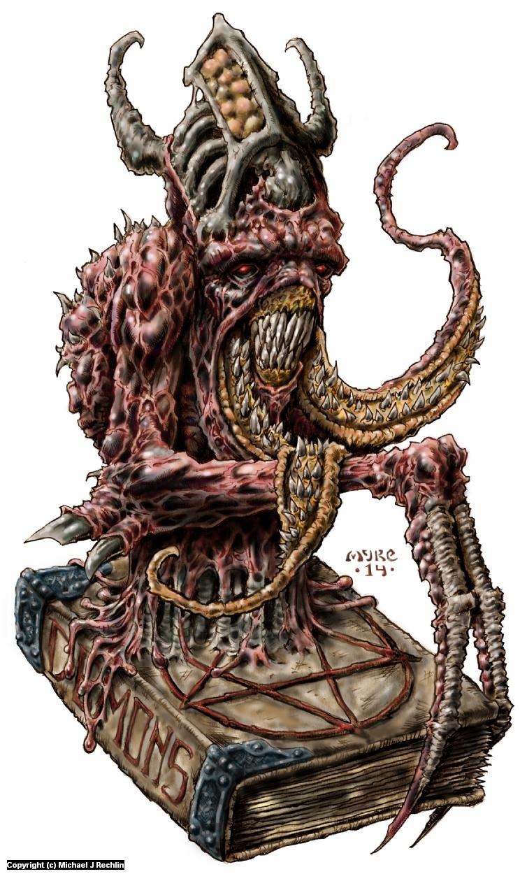 Nekrodaemon- Creature Concept Artwork by Michael Rechlin