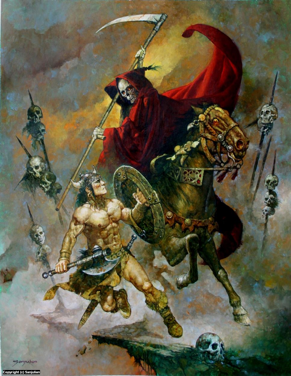 When Death Rides In Artwork by Manuel Sanjulian