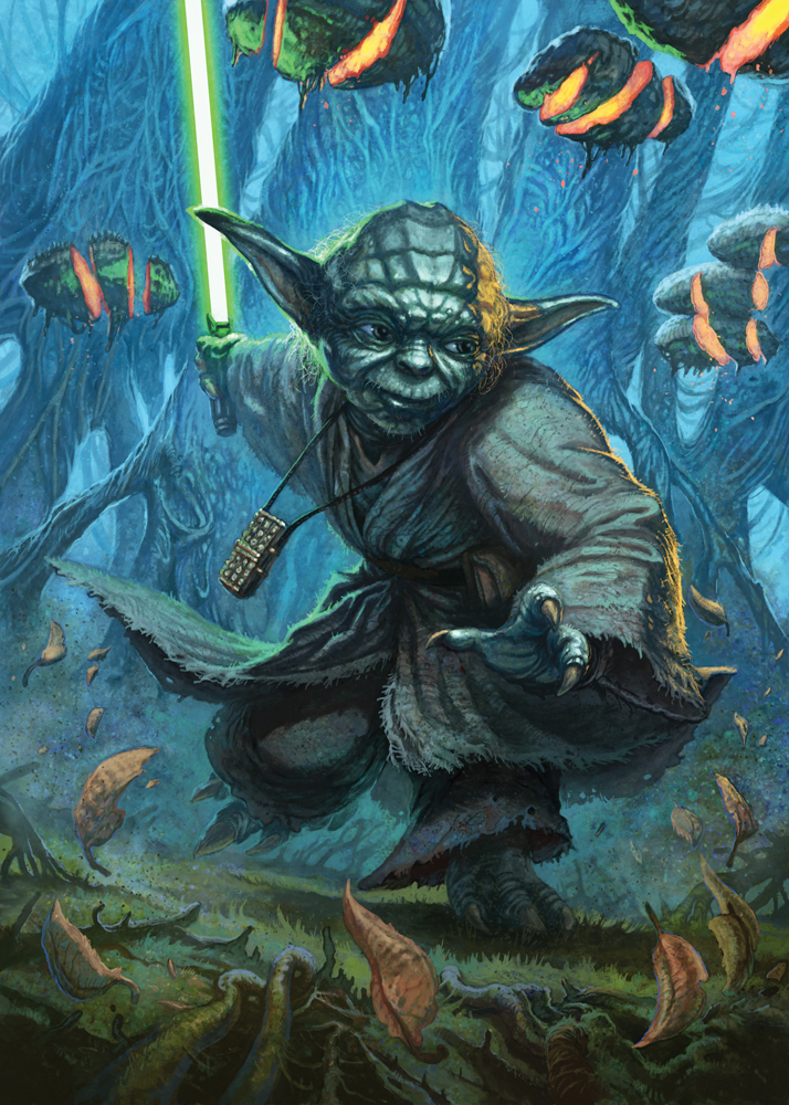 Yoda Artwork by Christopher Burdett