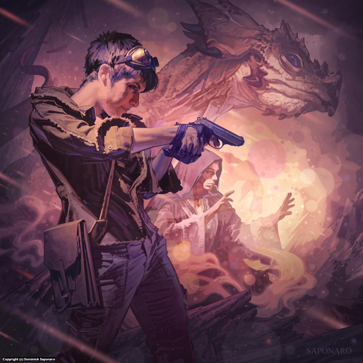 The Dragons of Dorcastle Artwork by Dominick Saponaro