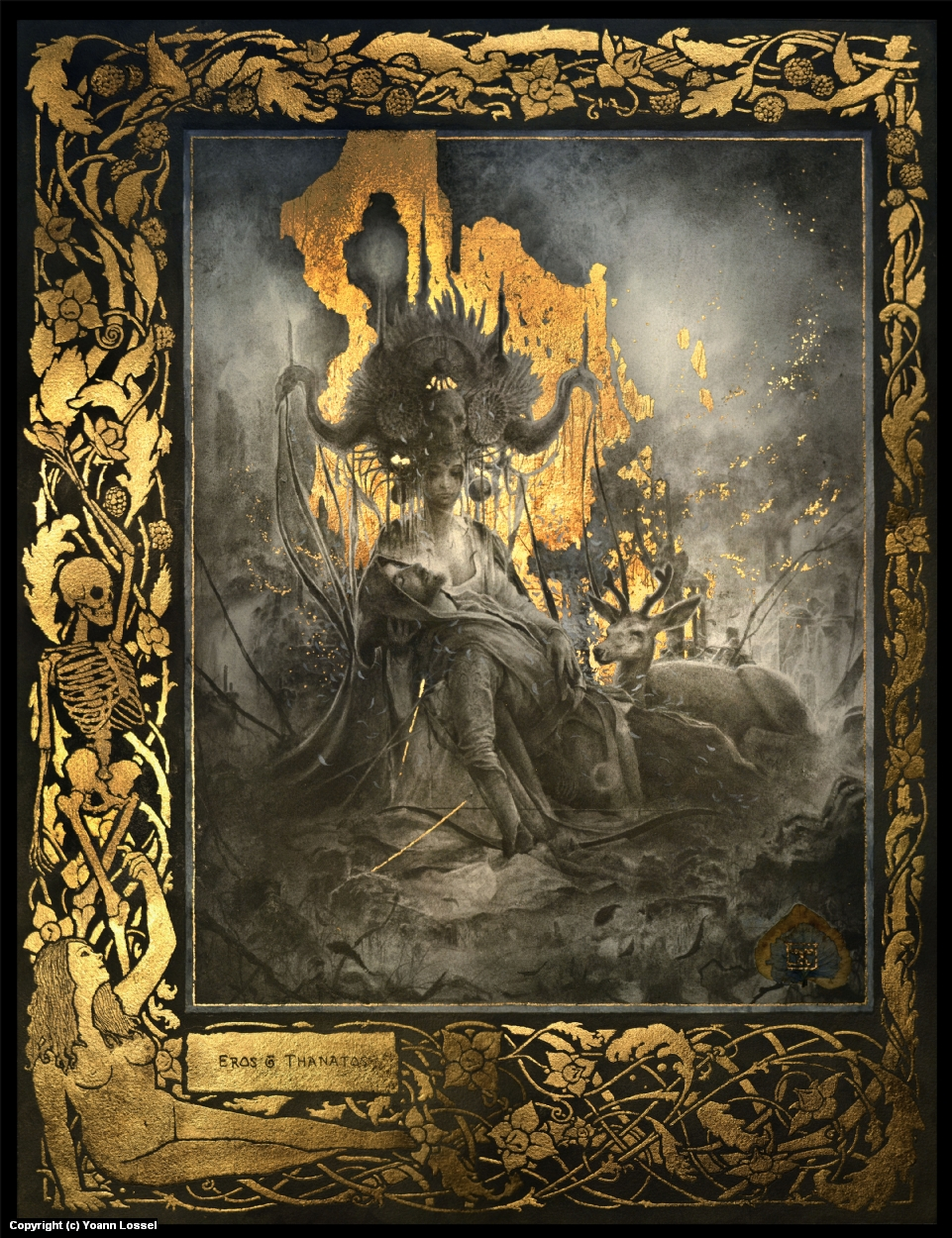 Eros and Thanatos Artwork by Yoann Lossel