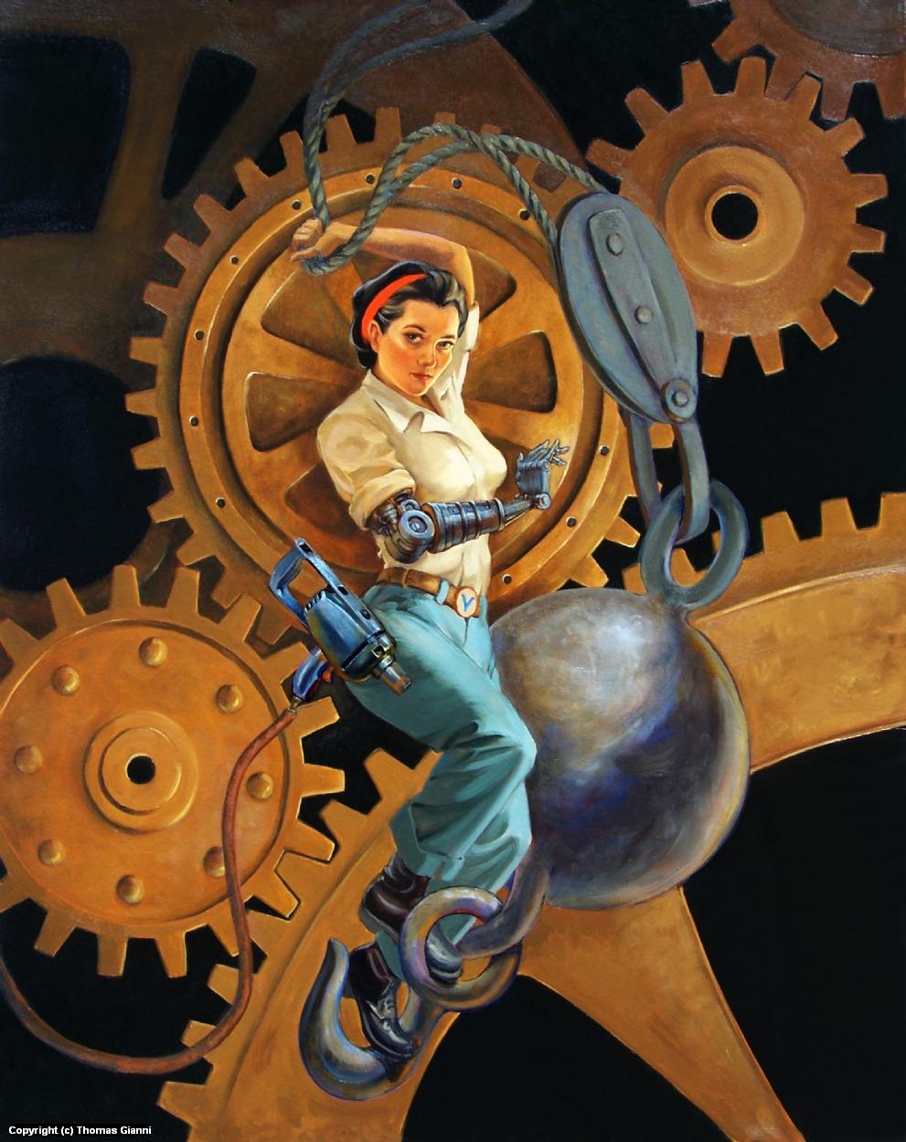 Mechanic Anna Artwork by Thomas Gianni