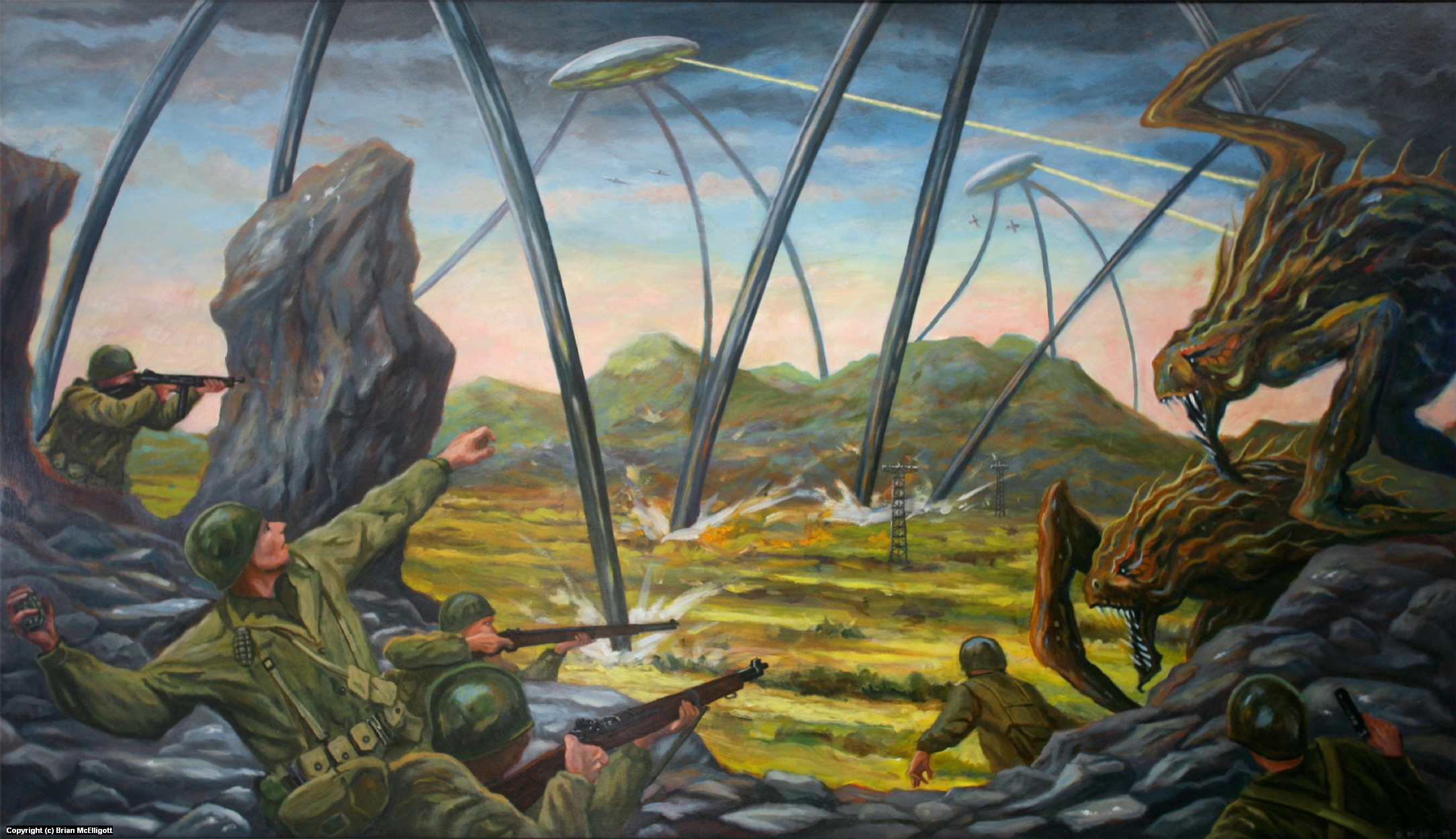 The War of the Worlds, New jersey, 1938 Artwork by Brian McElligott