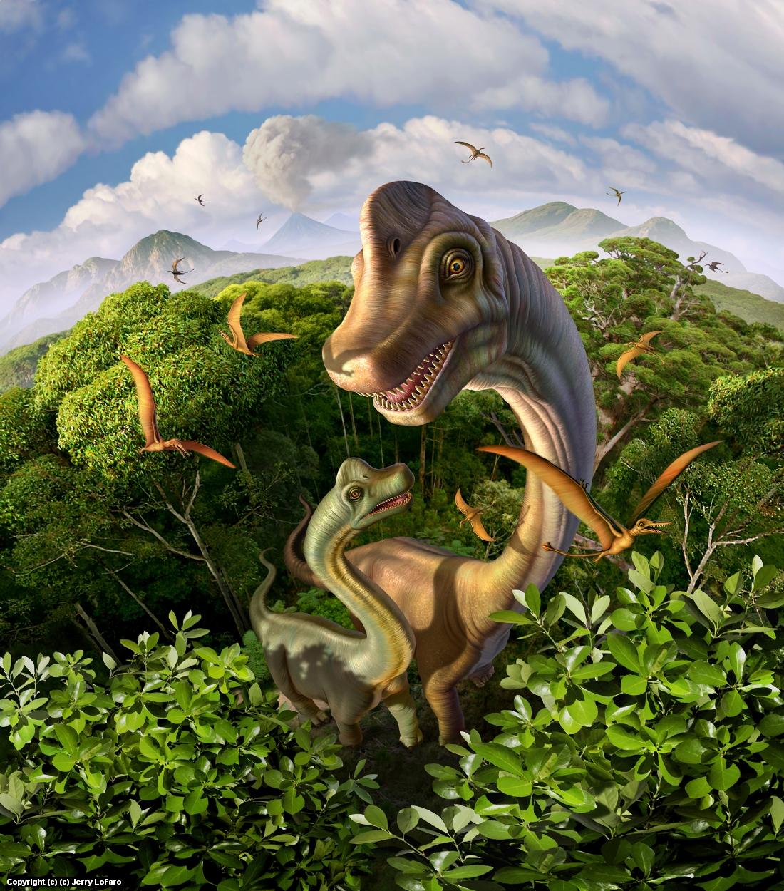 Brachiosarous Artwork by jerry lofaro