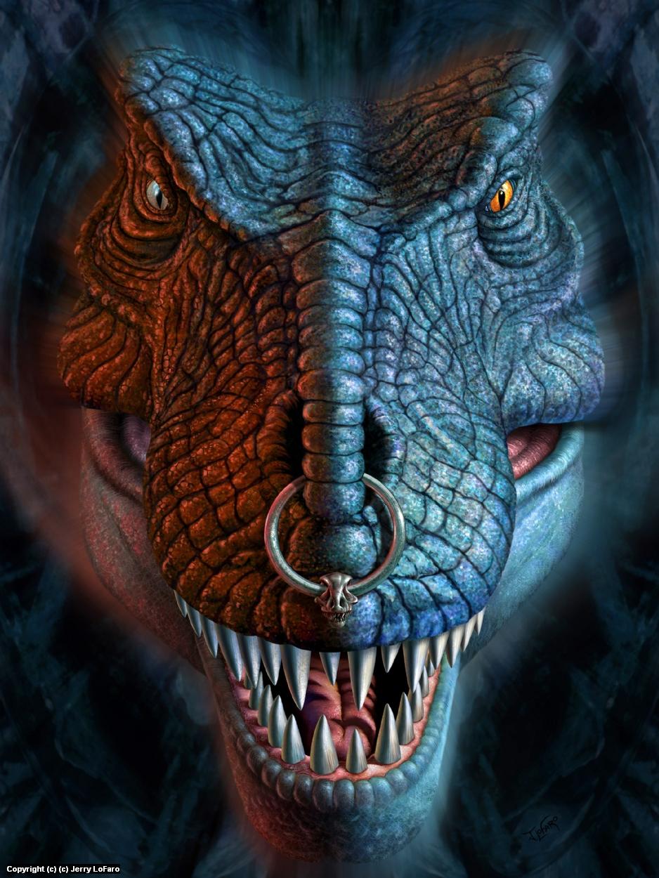 Nas T-Rex Artwork by jerry lofaro