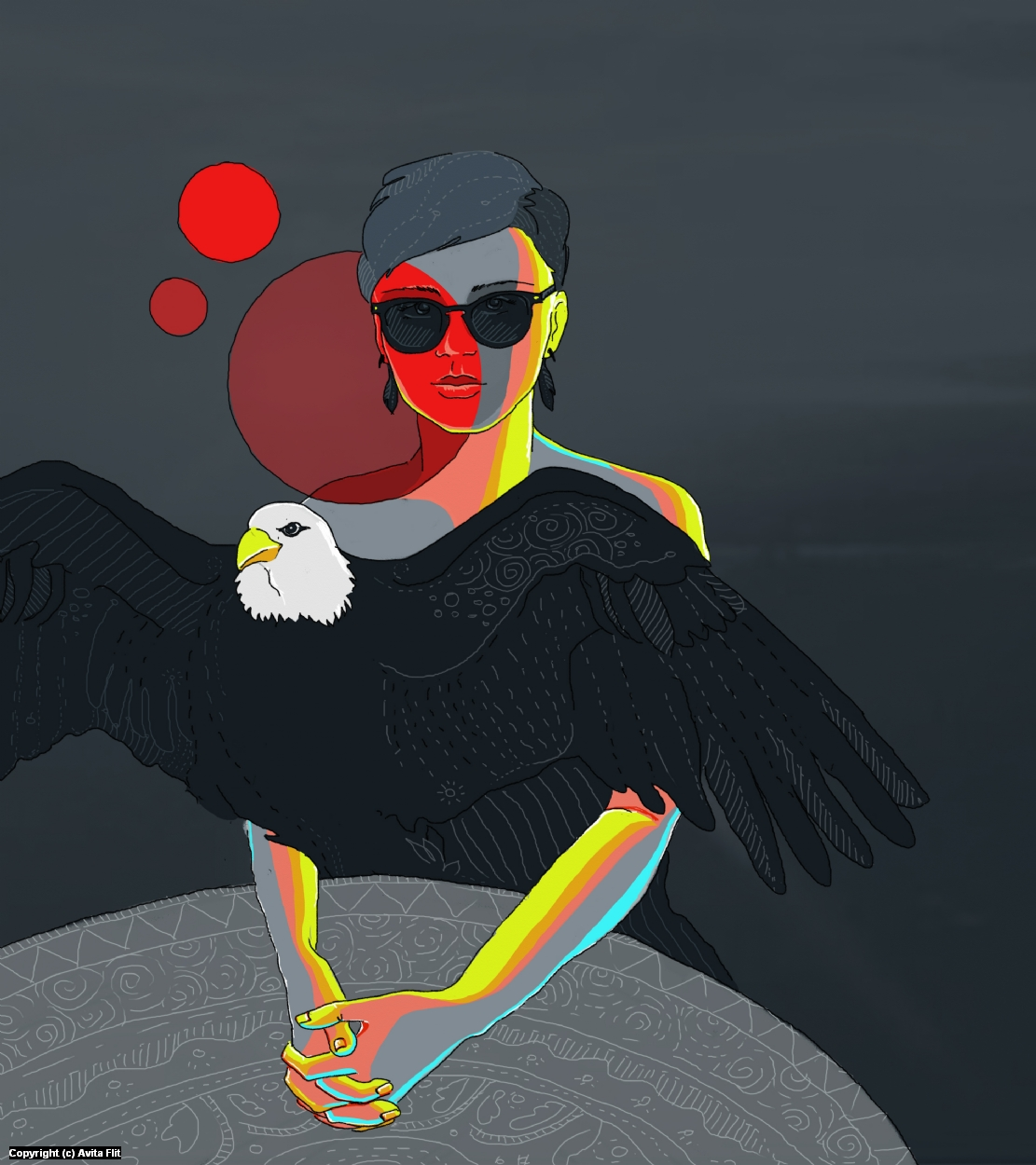 Eagle Dress Artwork by Avita Flit