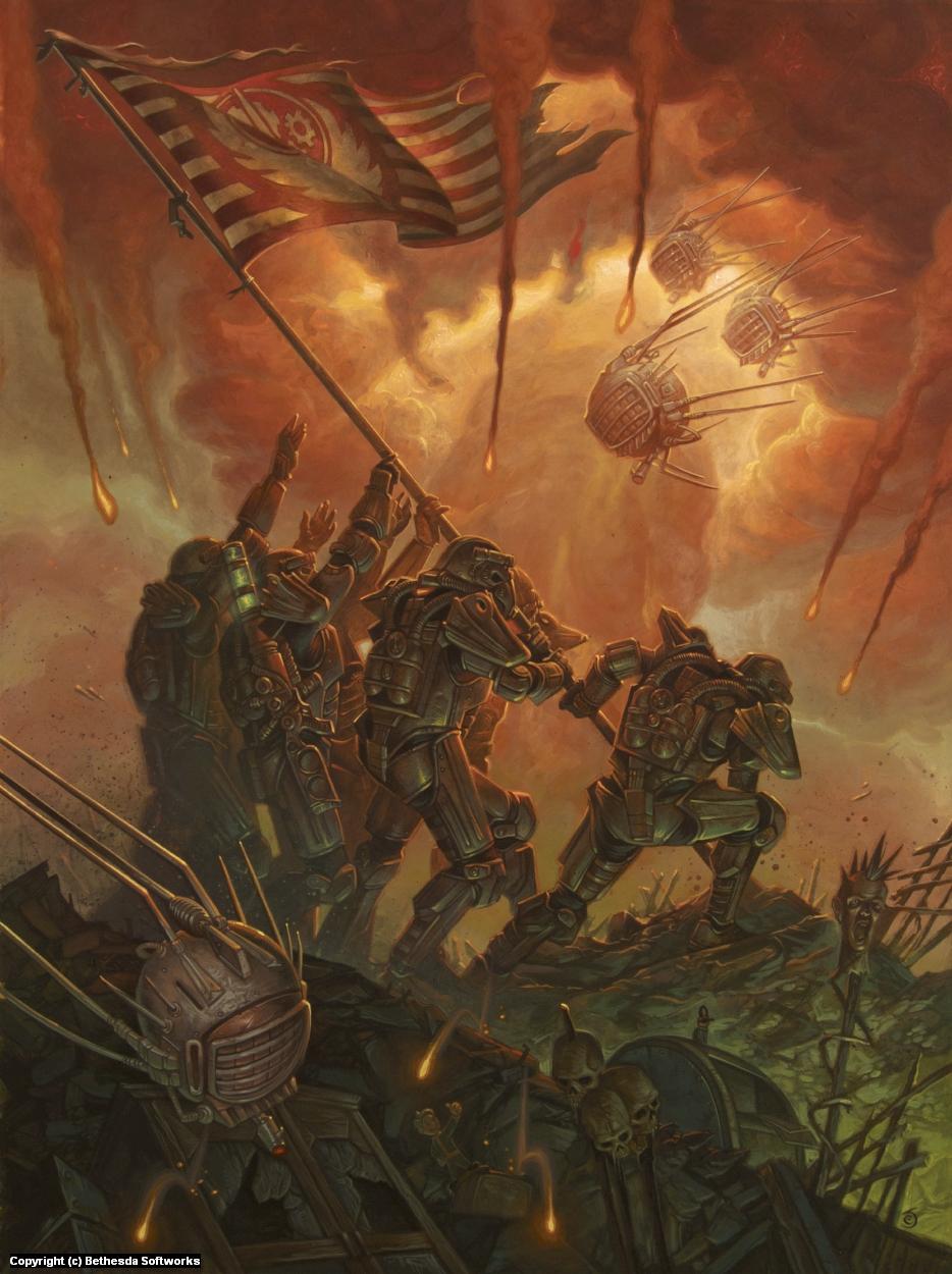 Brotherhood of Steel/ Raising the Flag Artwork by Chris Seaman