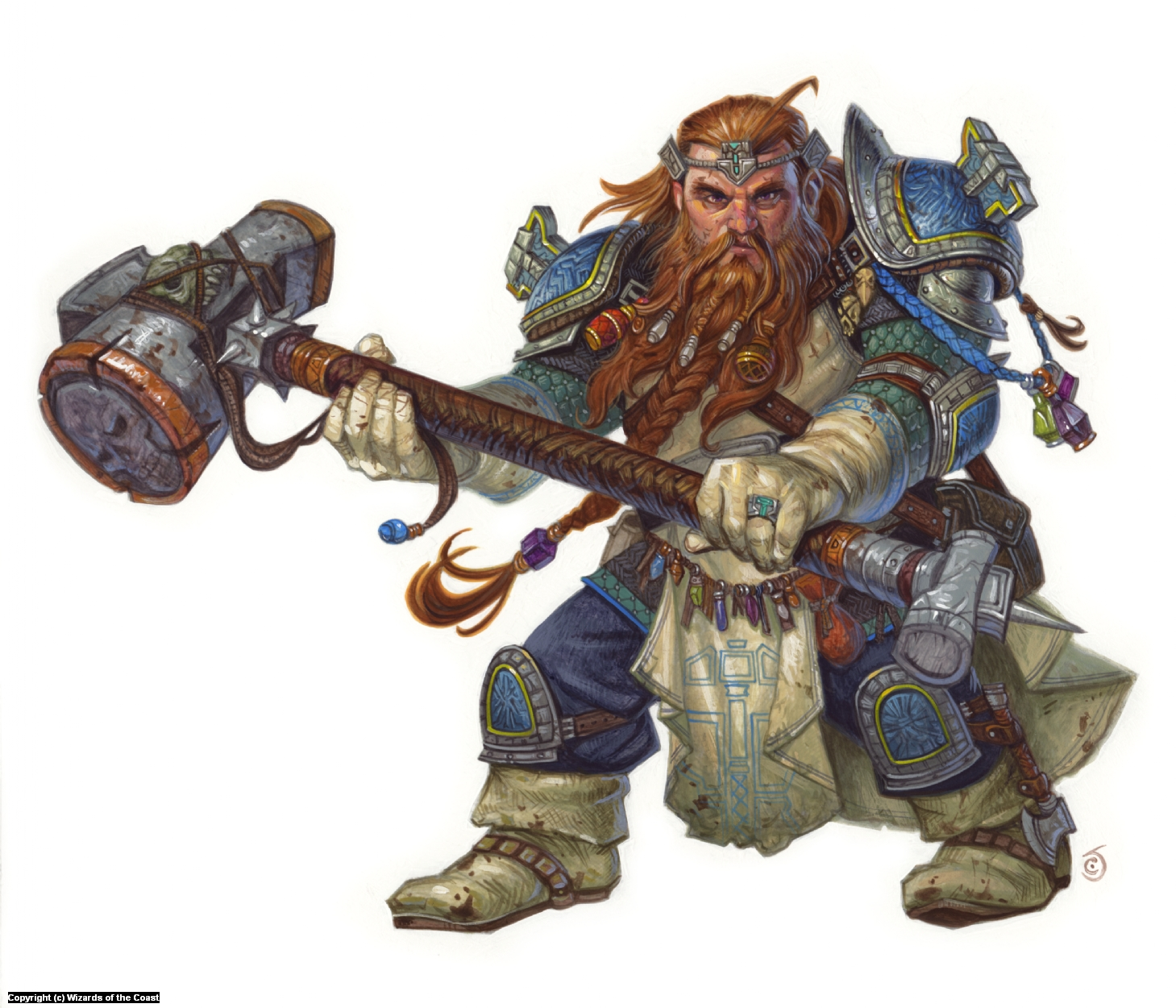 Dwarf Cleric Artwork by Chris Seaman