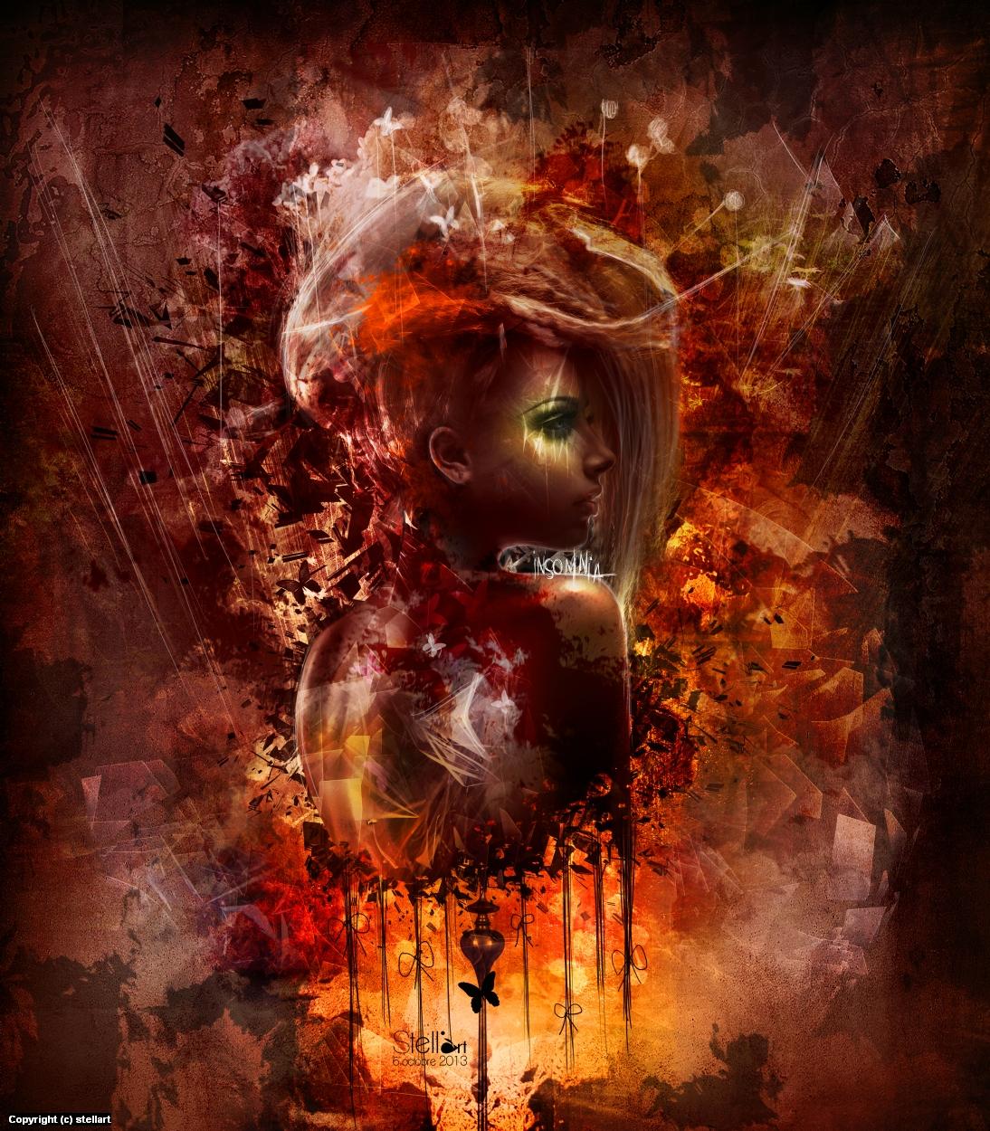 Insomnia Artwork by Estelle Chomienne