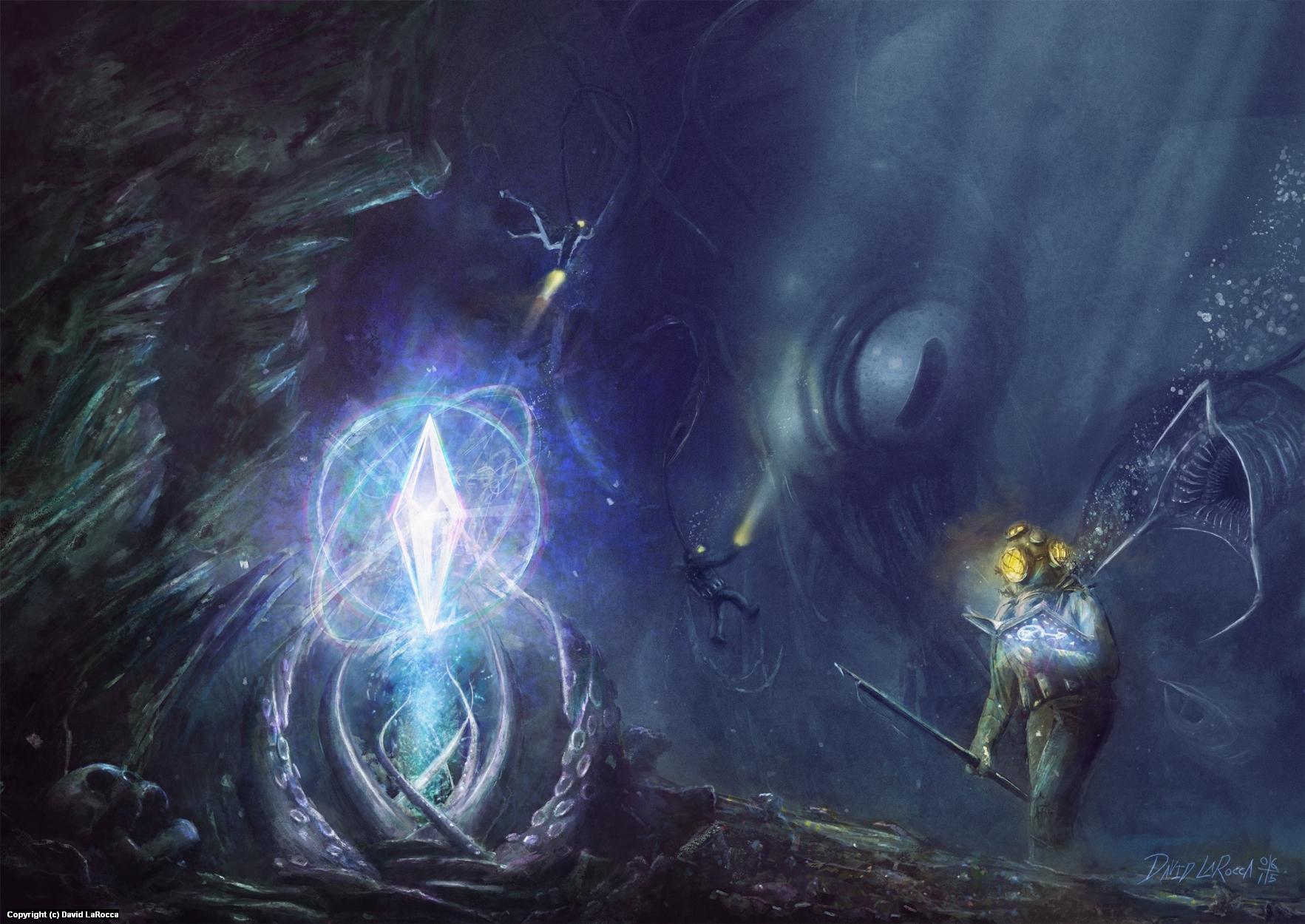 The Haunter in the Deep Artwork by David LaRocca