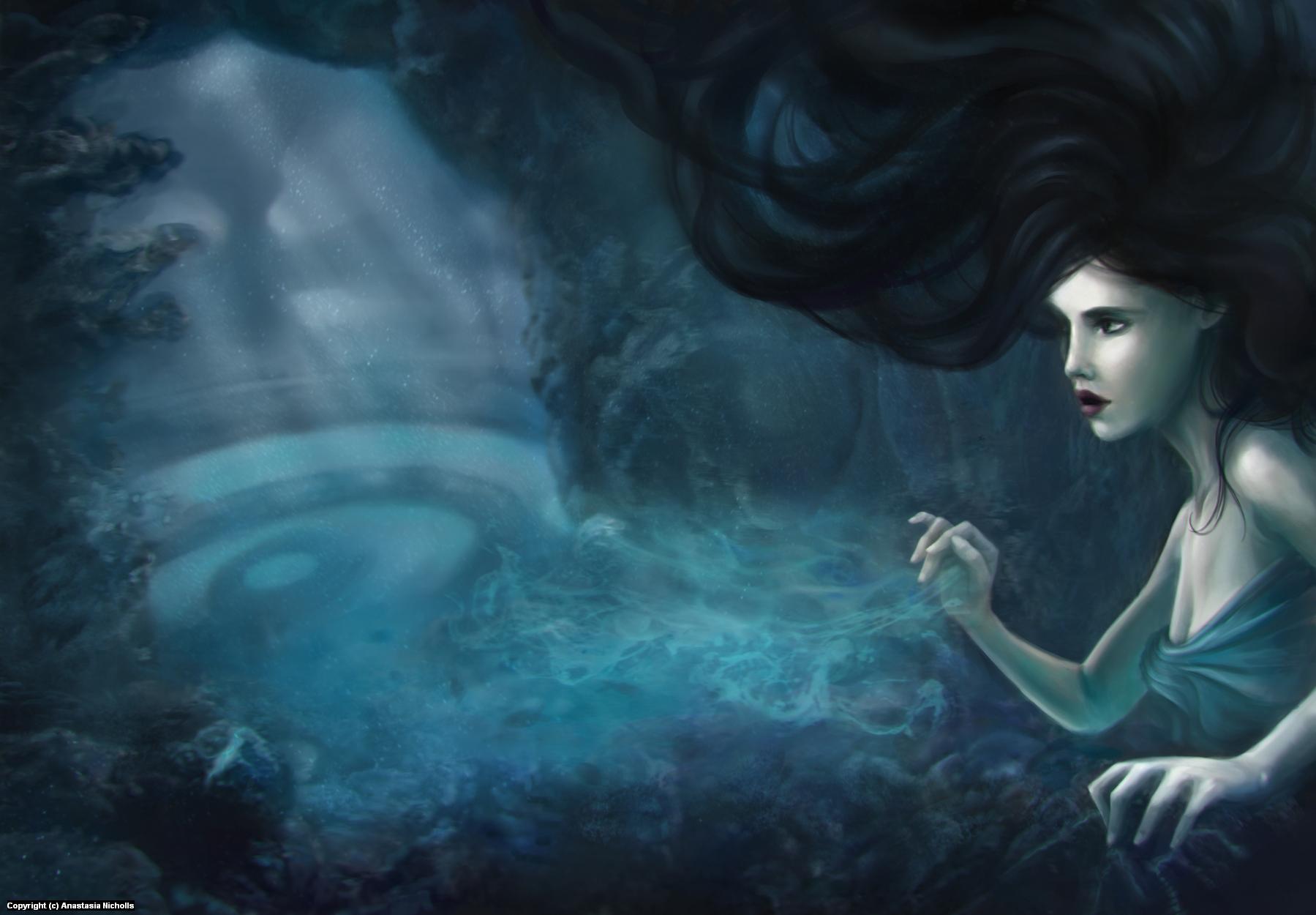 Deep blue. Artwork by Anastasia Nicholls