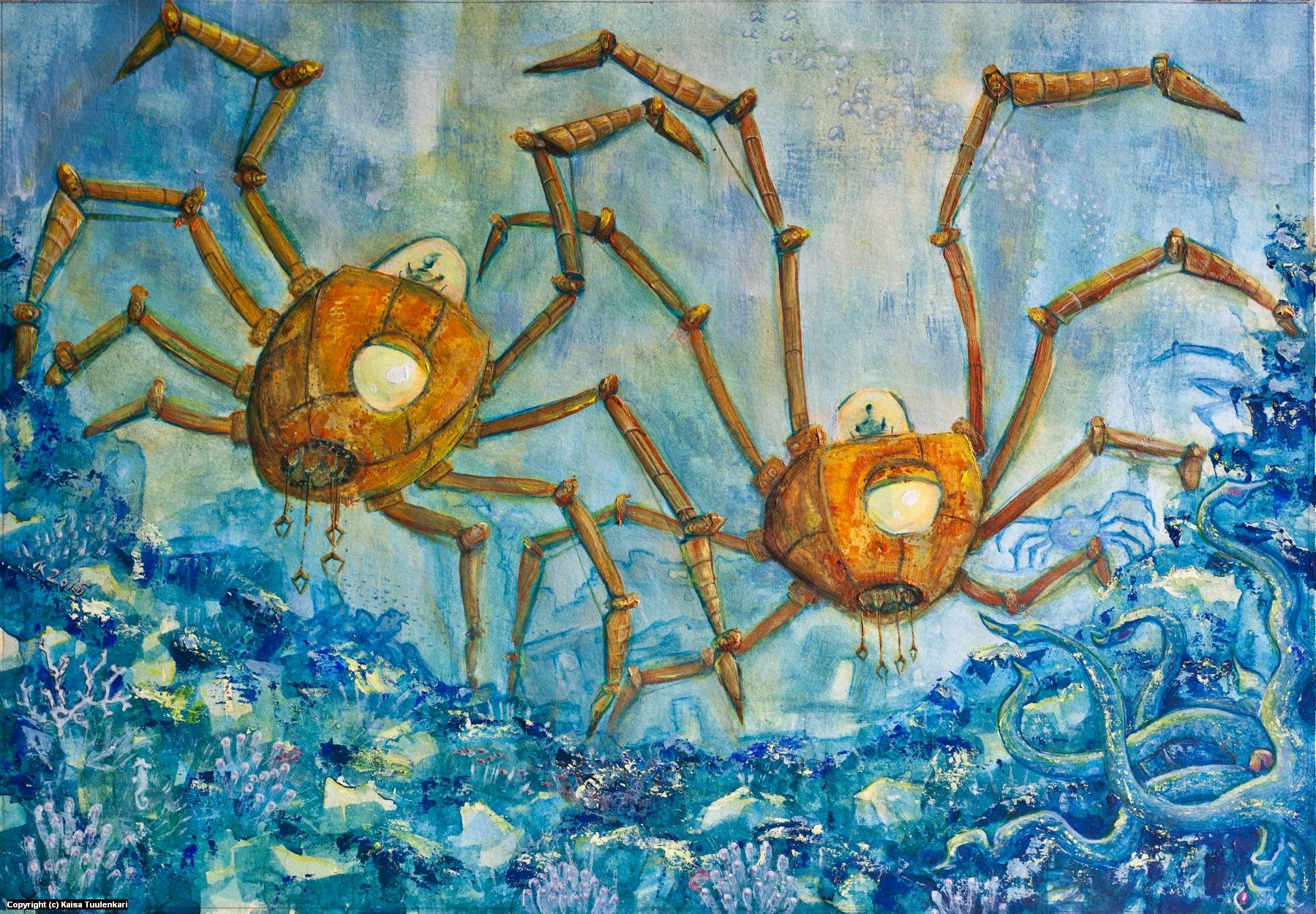 Deep Explorers Artwork by Kaisa Tuulenkari