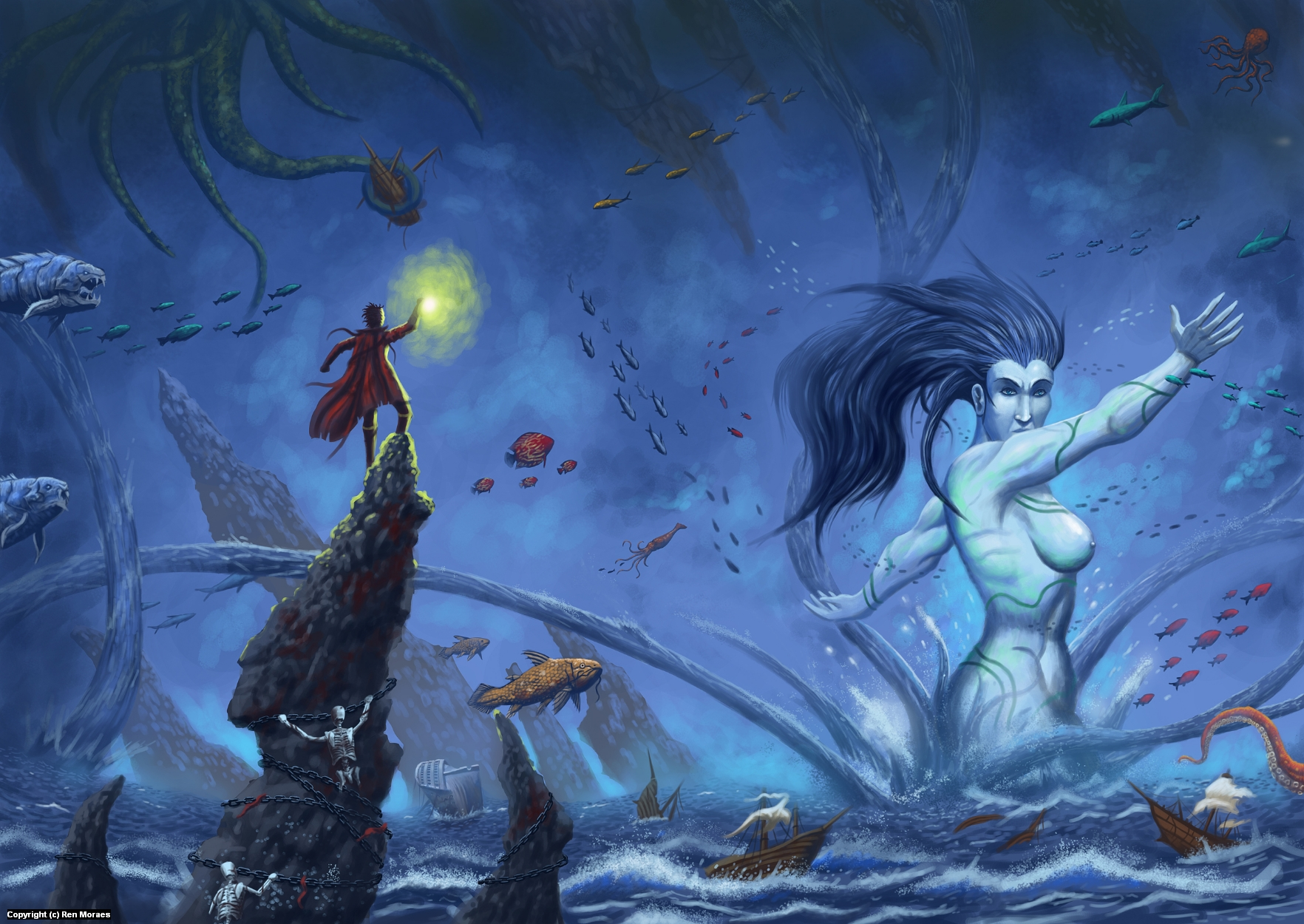 Maelstrom Maiden Artwork by Renan Moraes
