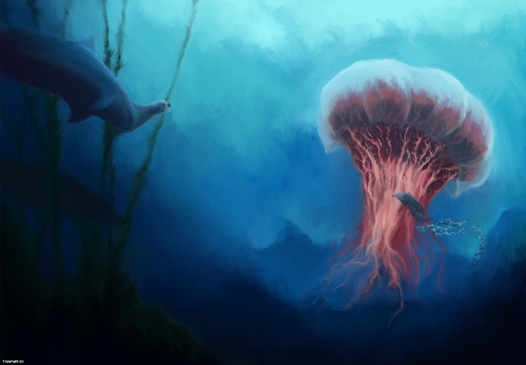 Ascent from the Depths Artwork by Hal Wayland