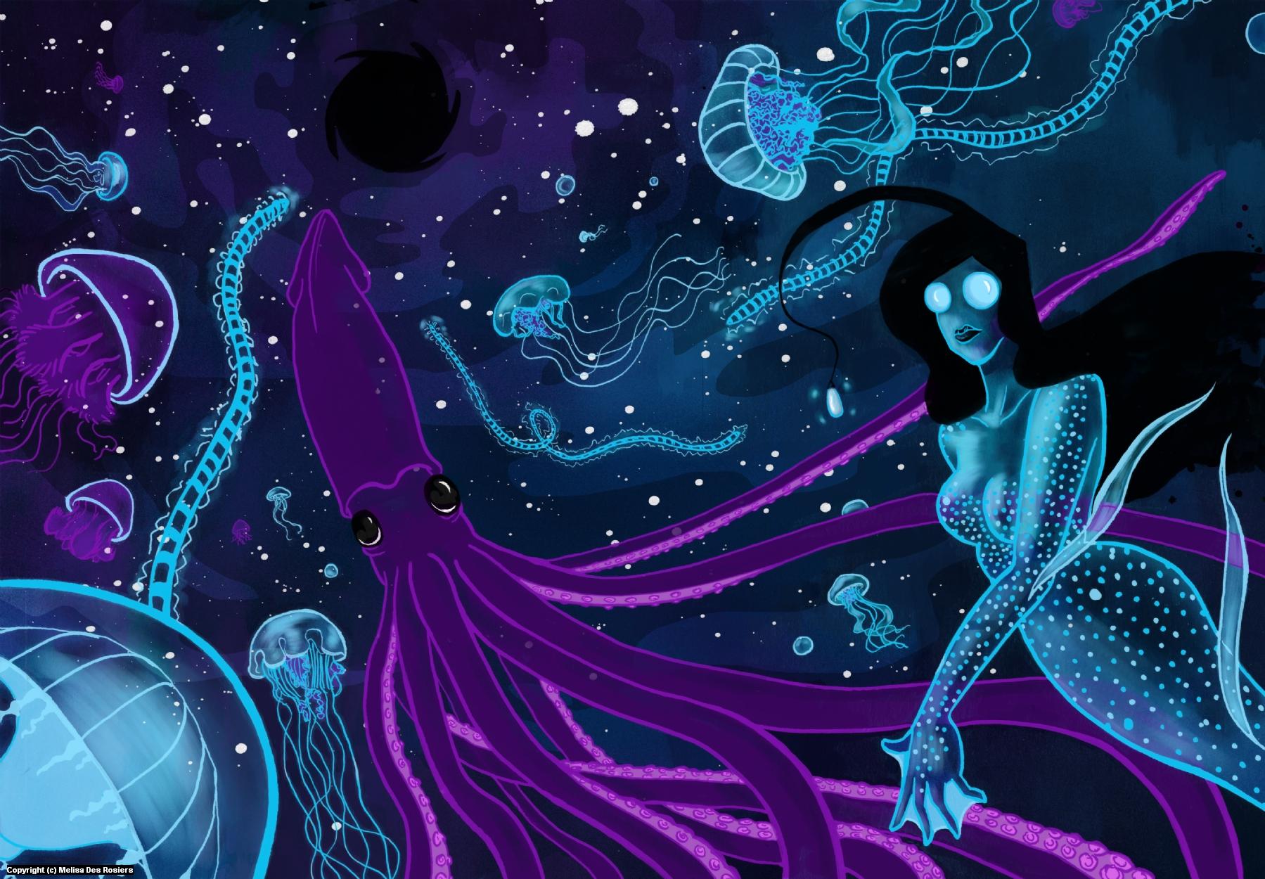 Sacred Black Artwork by Melisa Des Rosiers