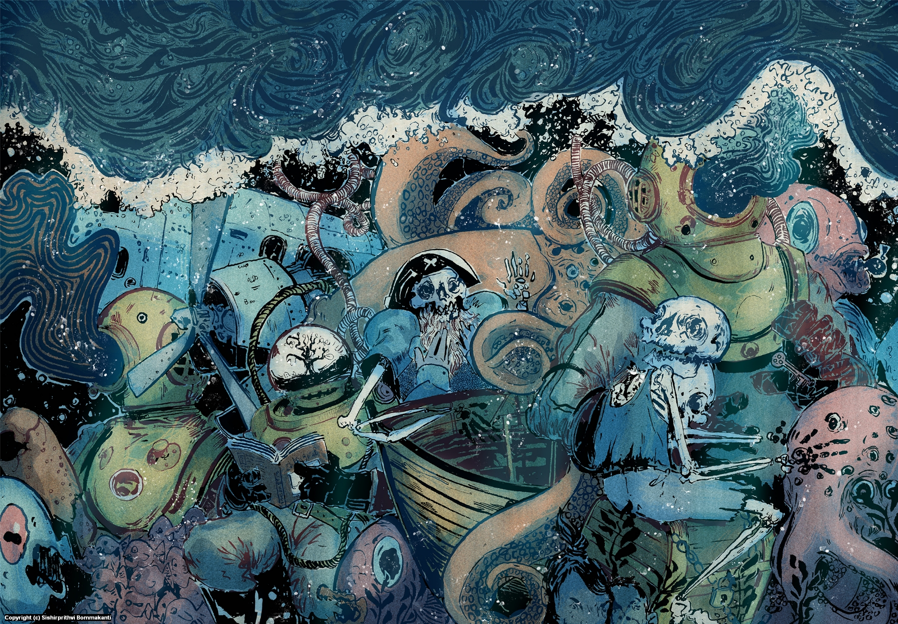 Seabed Empire  Artwork by Sishirprithvi Bommakanti