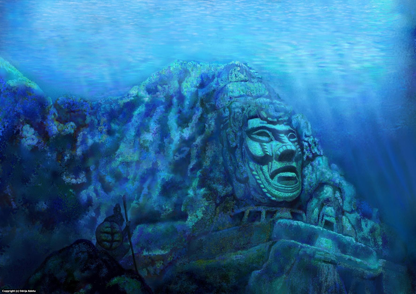 Guardian of Secret Temple Artwork by Odrija Adetu