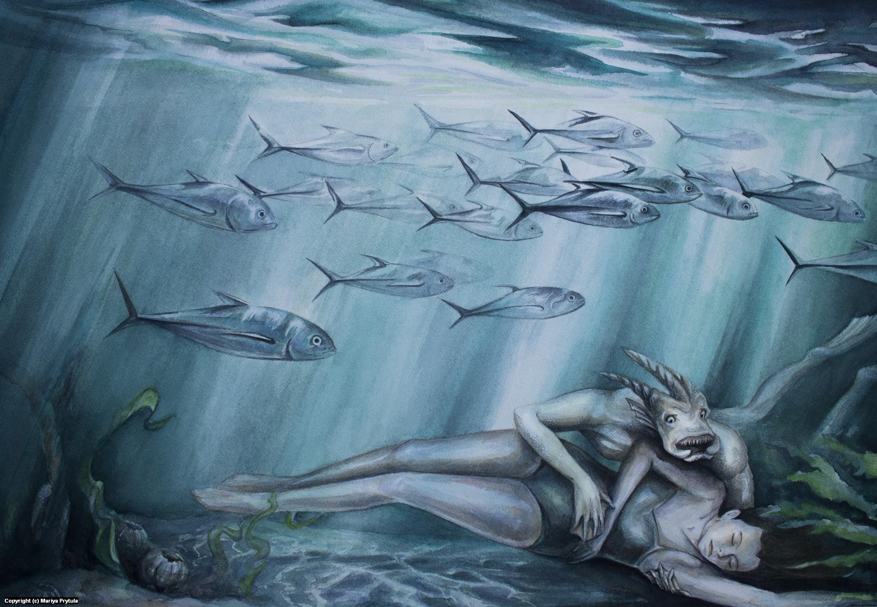 Beauty and the Deep Artwork by Mariya Prytula