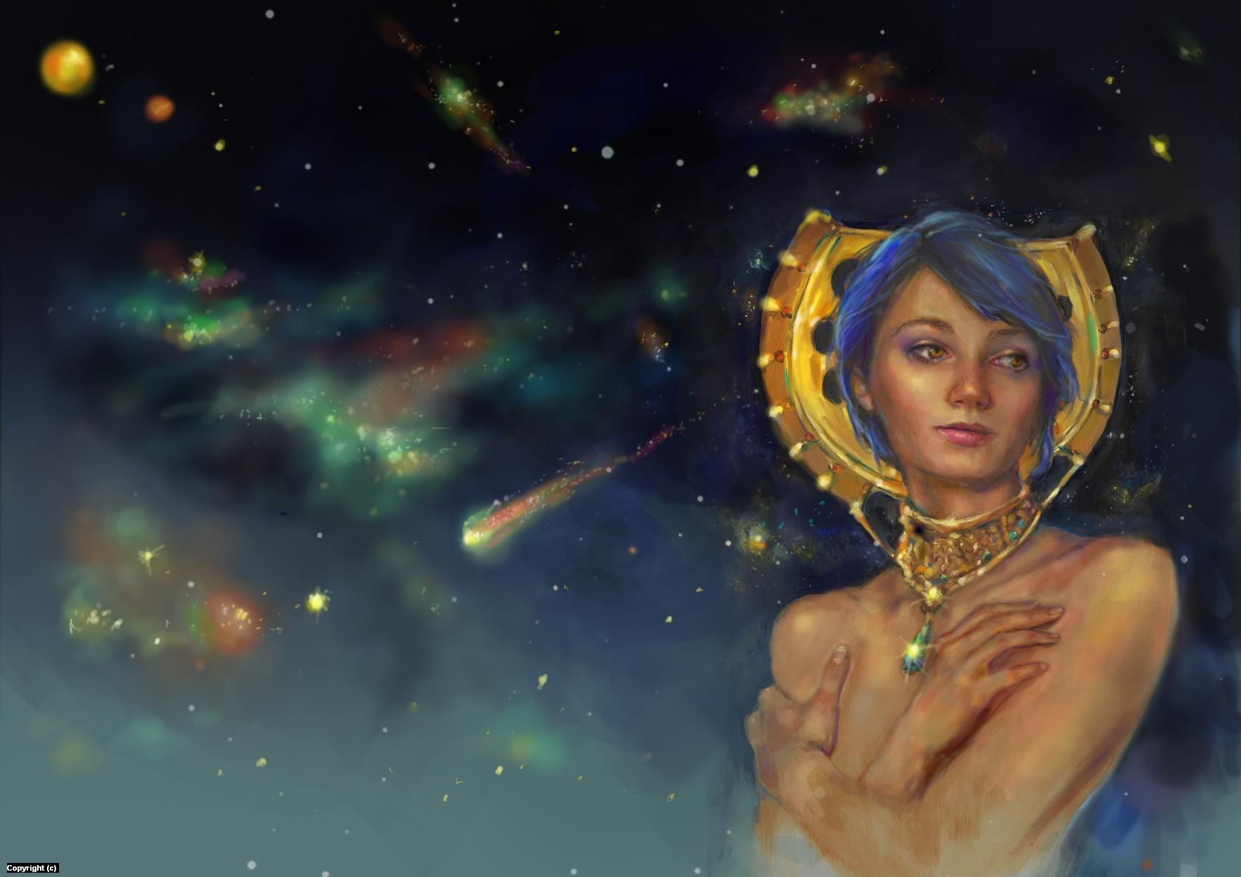 Galaxy Empress Artwork by Anne Garavaglia