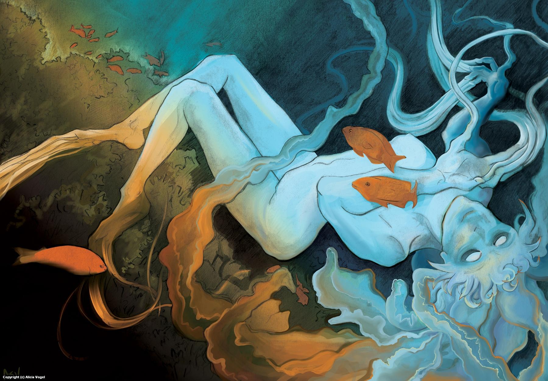 Medusozoa Artwork by Alicia Vogel