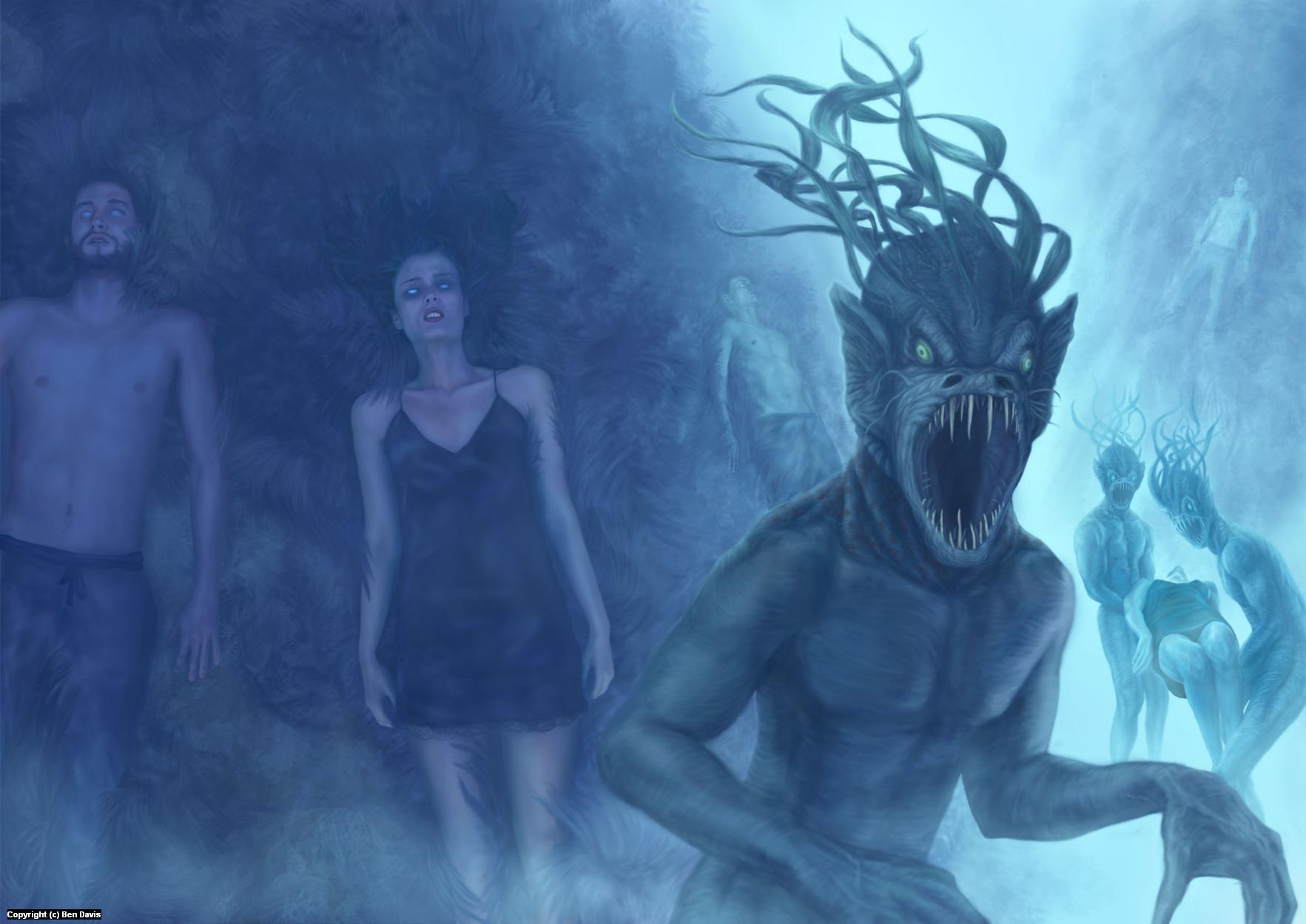 Deep Sea Abductors Artwork by Ben Davis
