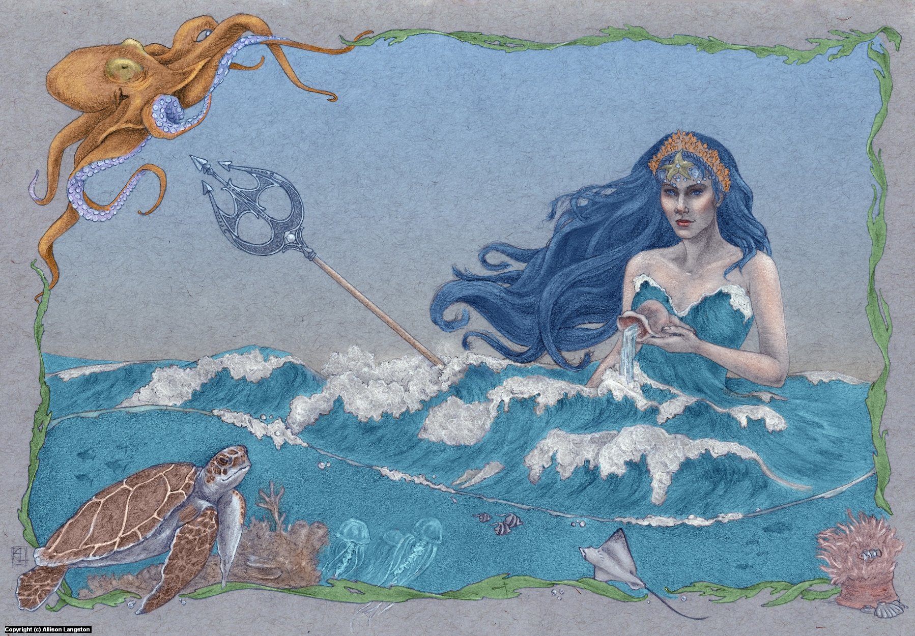 Amphitrite, Mother of the Sea Artwork by Allison Langston