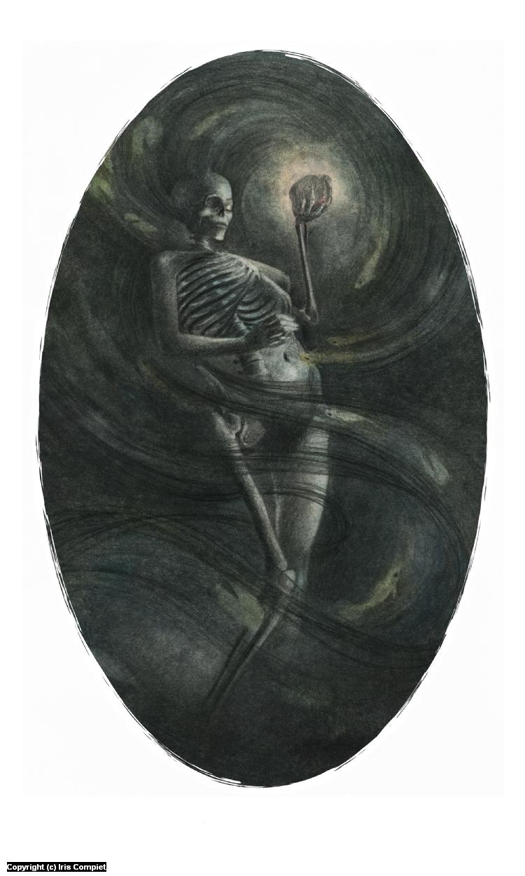Skeleton woman Artwork by iris compiet