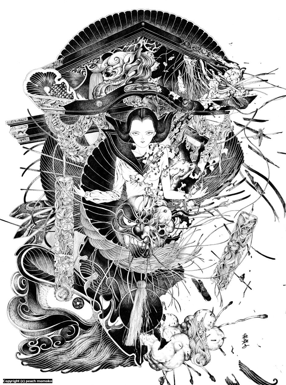 Hakai & Saisei II Artwork by MoMoKo Peach