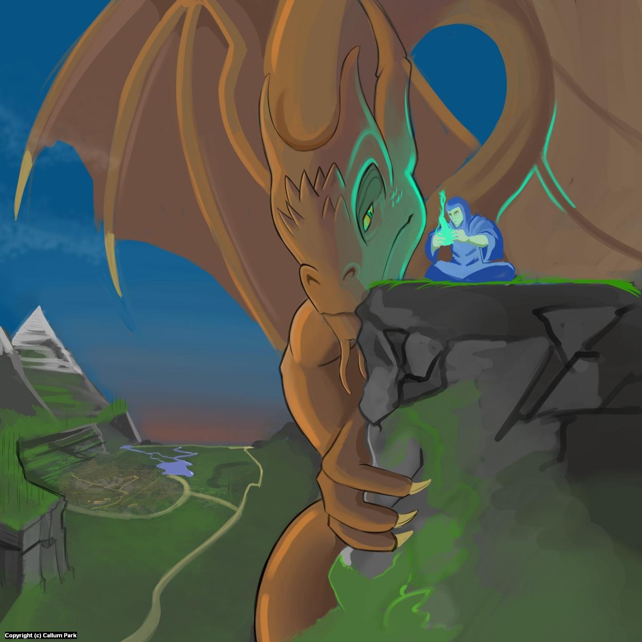 A Dragons Magic Artwork by Callum Park