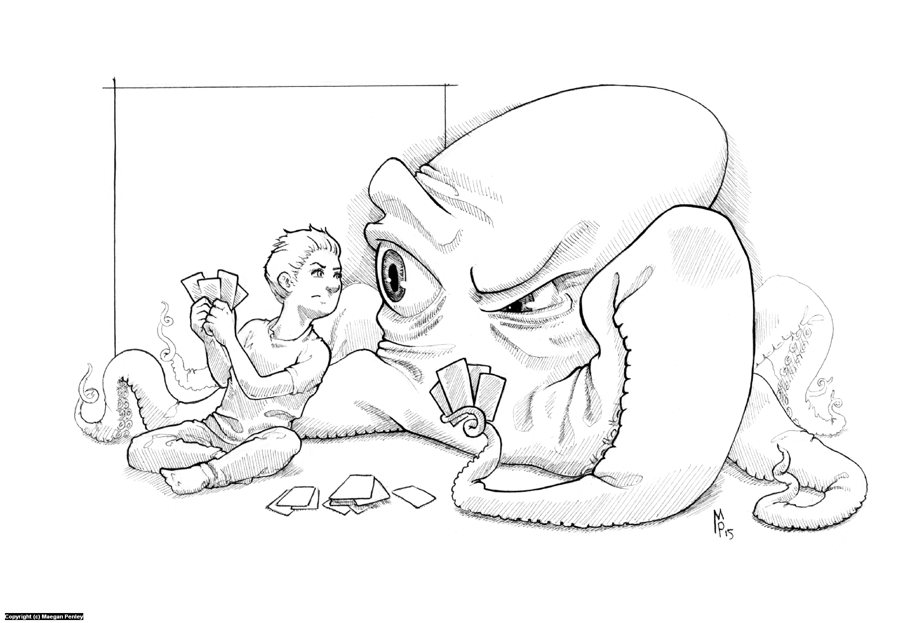 Cheater! Artwork by Maegan Penley