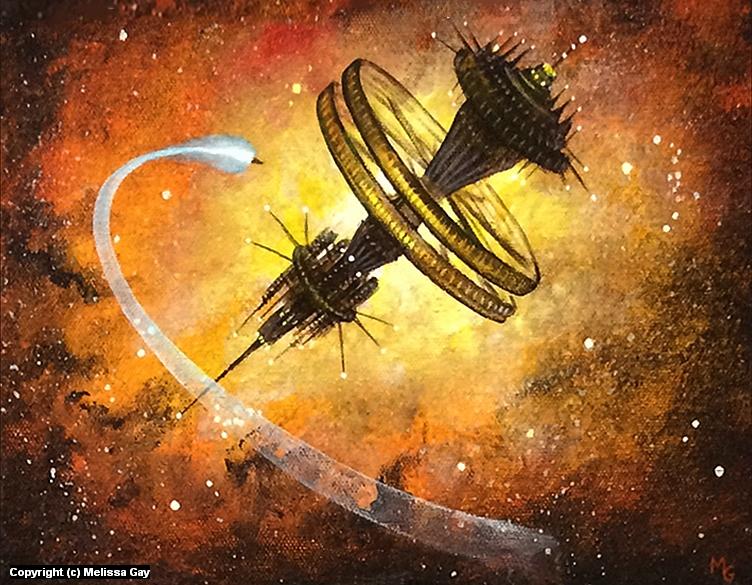 Space Station Gungnir Artwork by Melissa Gay
