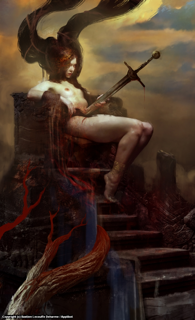 The Impaled Queen Artwork by Bastien Lecouffe Deharme