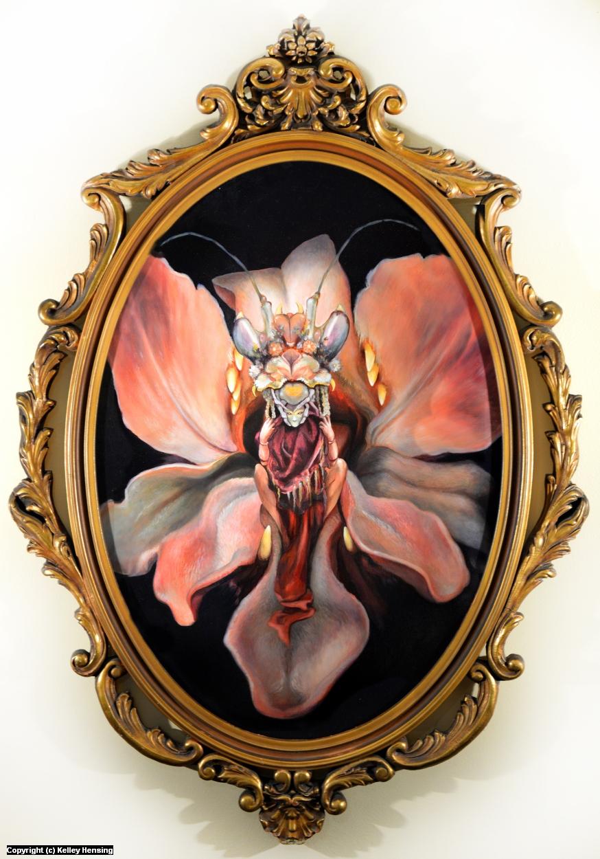 Mantis Queen Artwork by Kelley Hensing