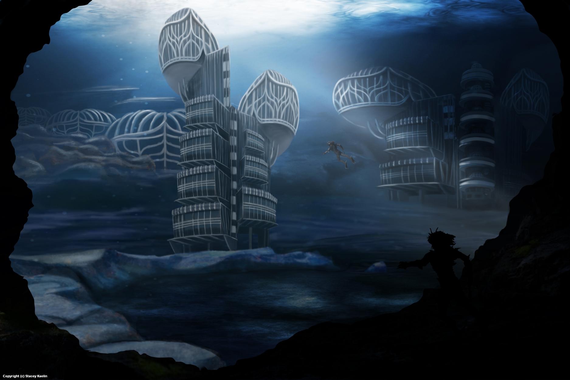 Underwater City Artwork by S.A. Kaelin