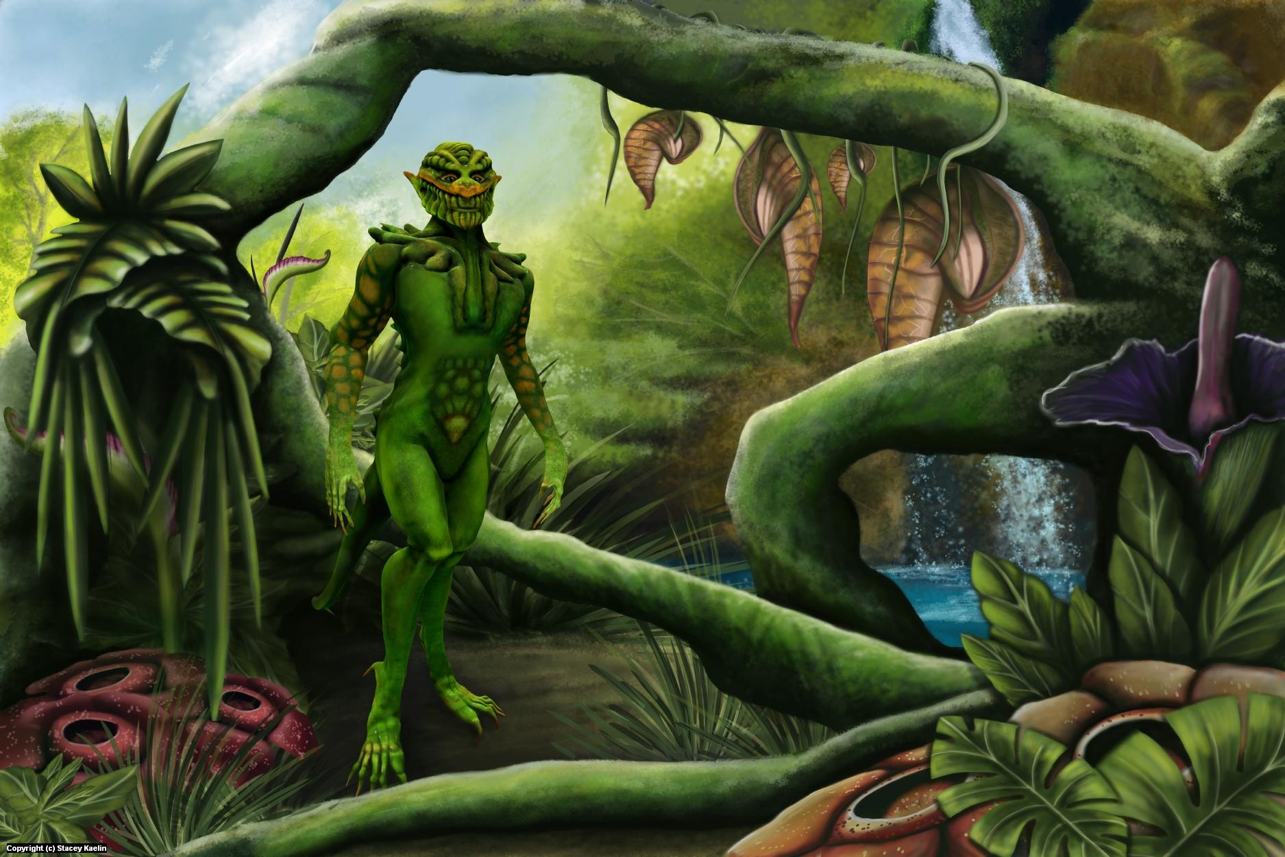 Alien Jungle Artwork by S.A. Kaelin