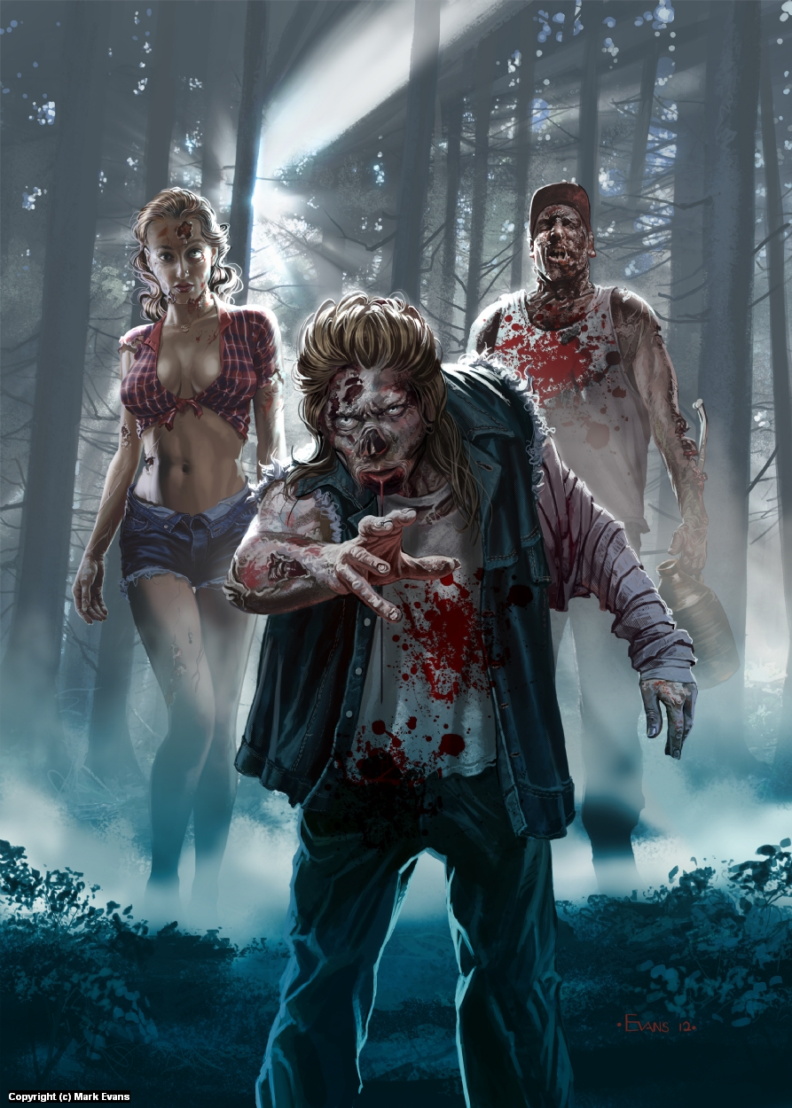 101 Zombies Artwork by Mark Evans