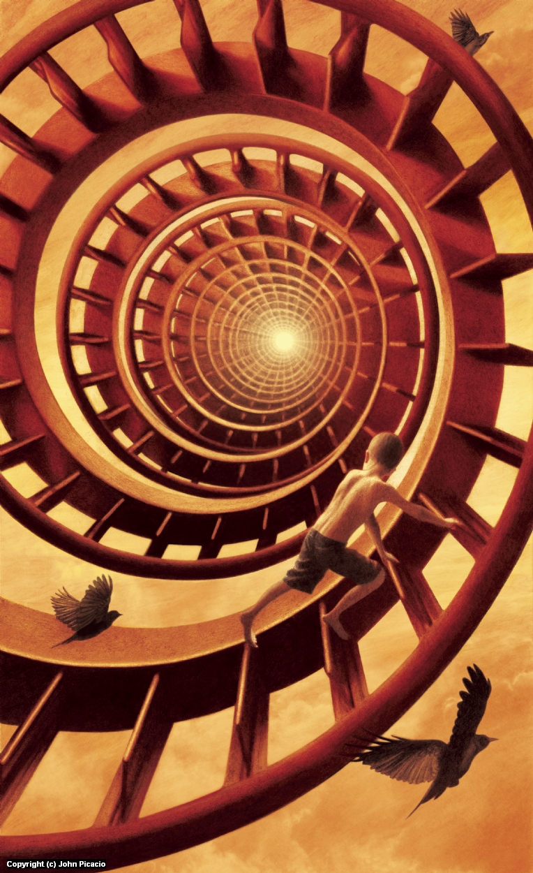 La Escalera Artwork by John Picacio