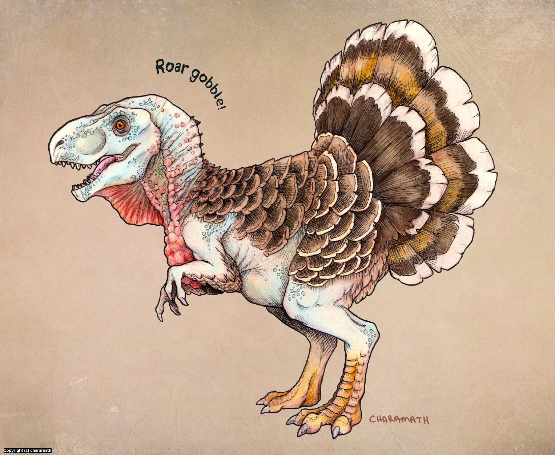 Turkeysaurus Rex Artwork by Audre Schutte