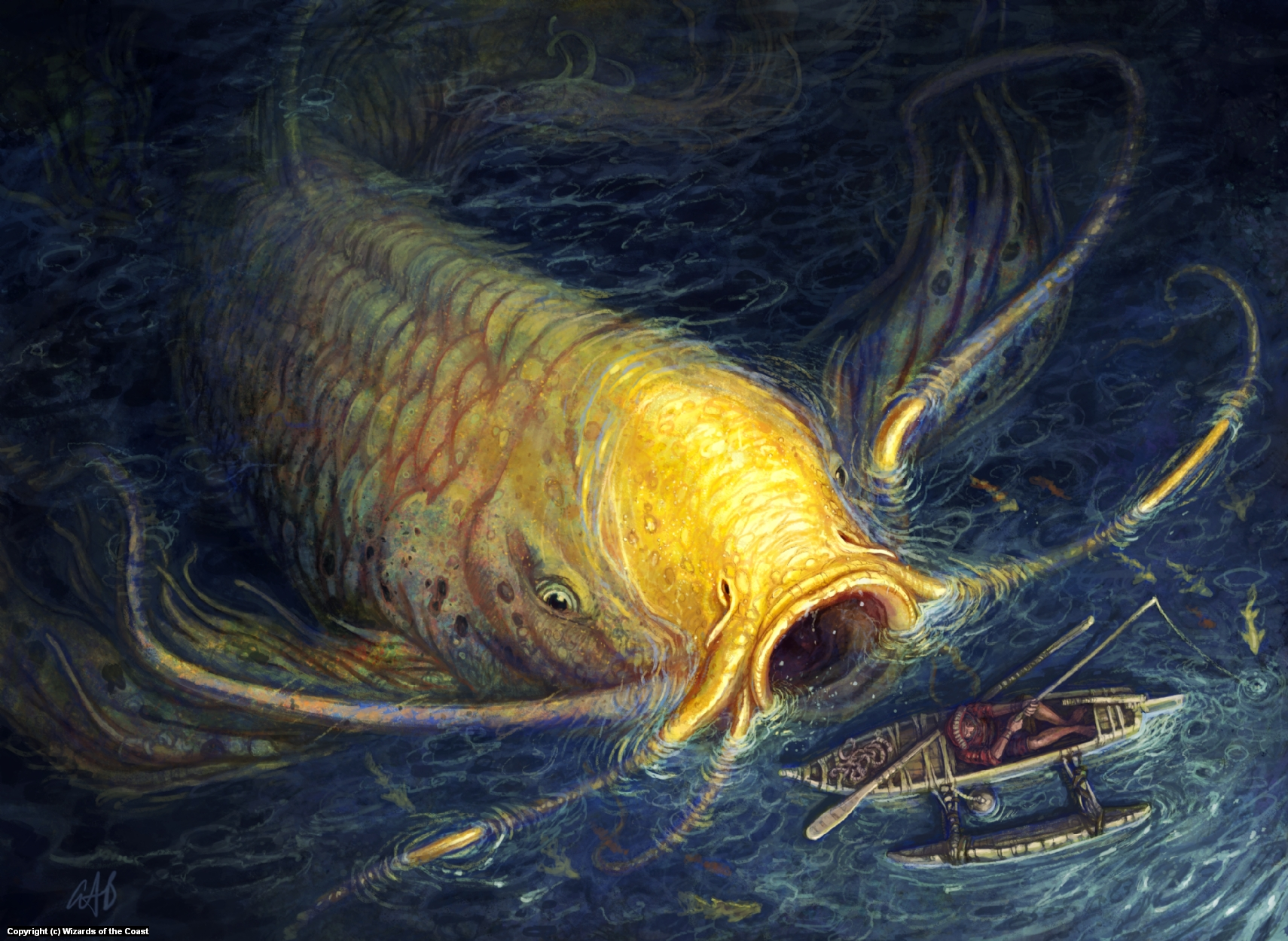 Ancient Carp Artwork by Christopher Burdett