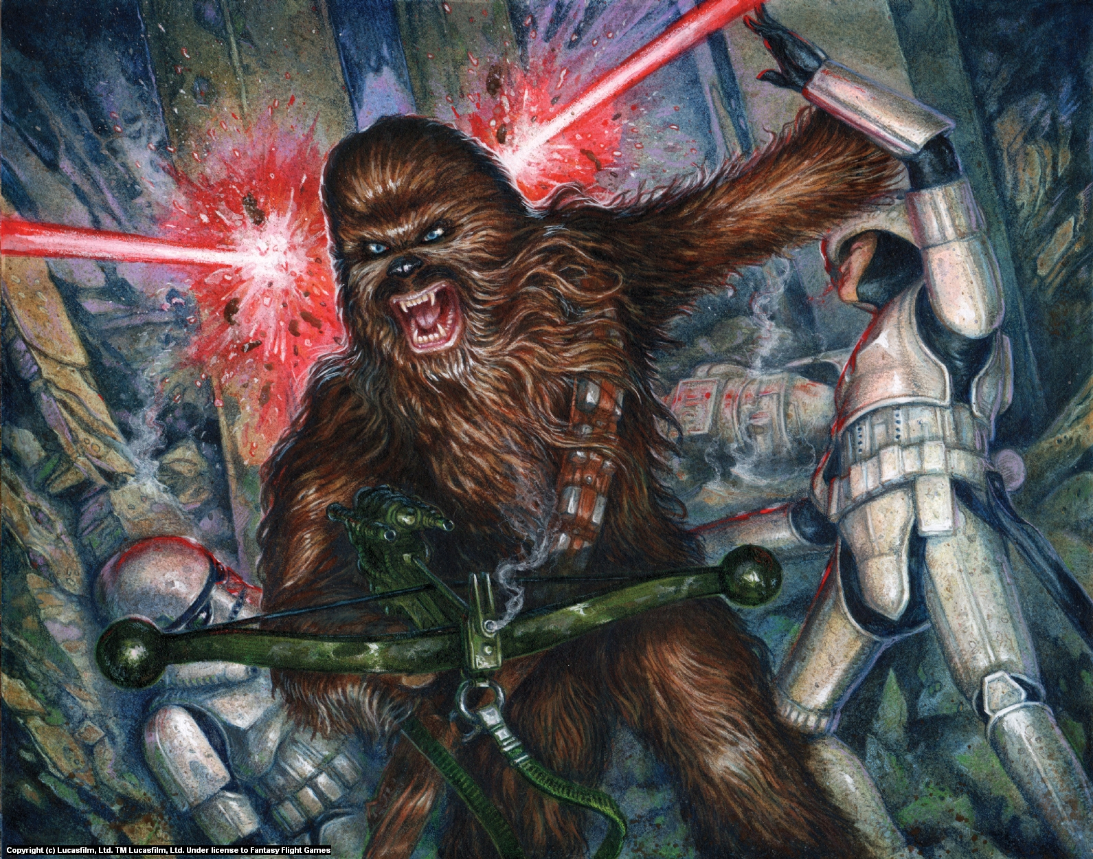 Chewbacca Artwork by Christopher Burdett