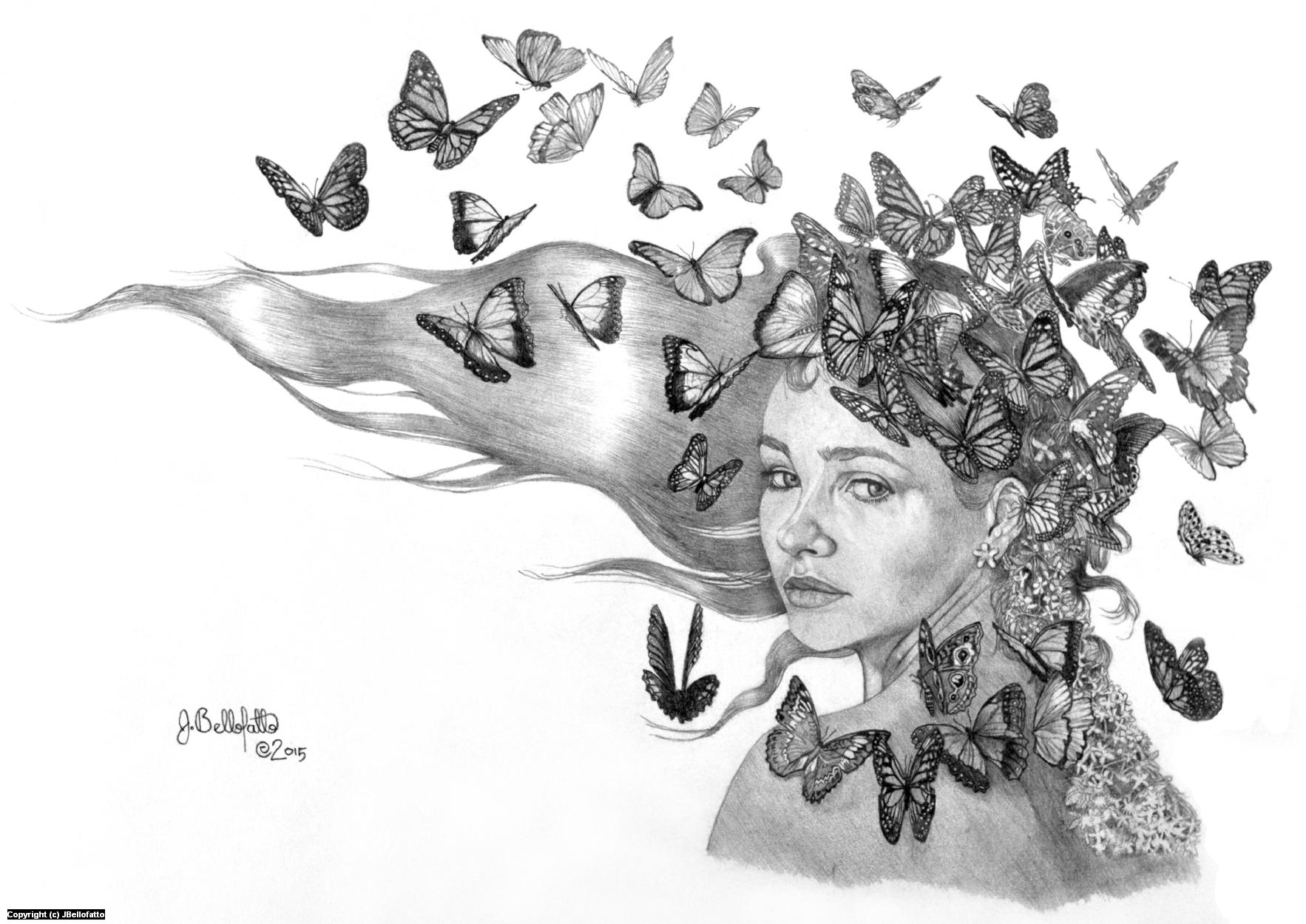 Madam Butterfly Artwork by Joseph Bellofatto