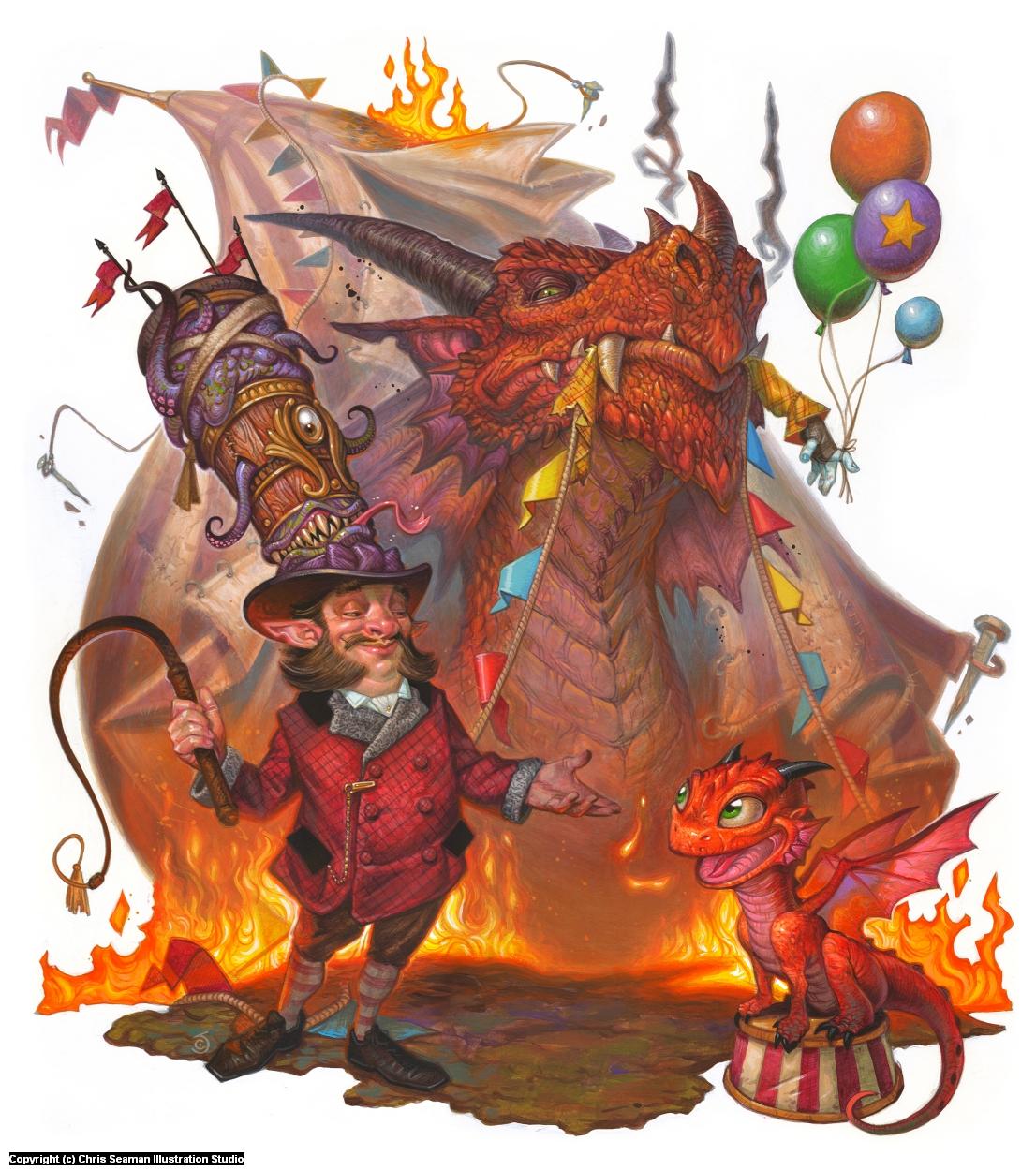 Dragon Circus Artwork by Chris Seaman