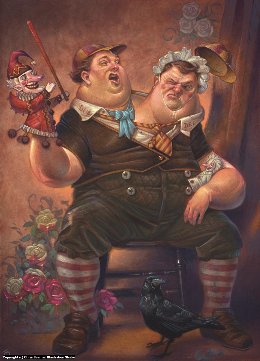 The Great War of Tweedle Dee & Tweedle Dum Artwork by Chris Seaman