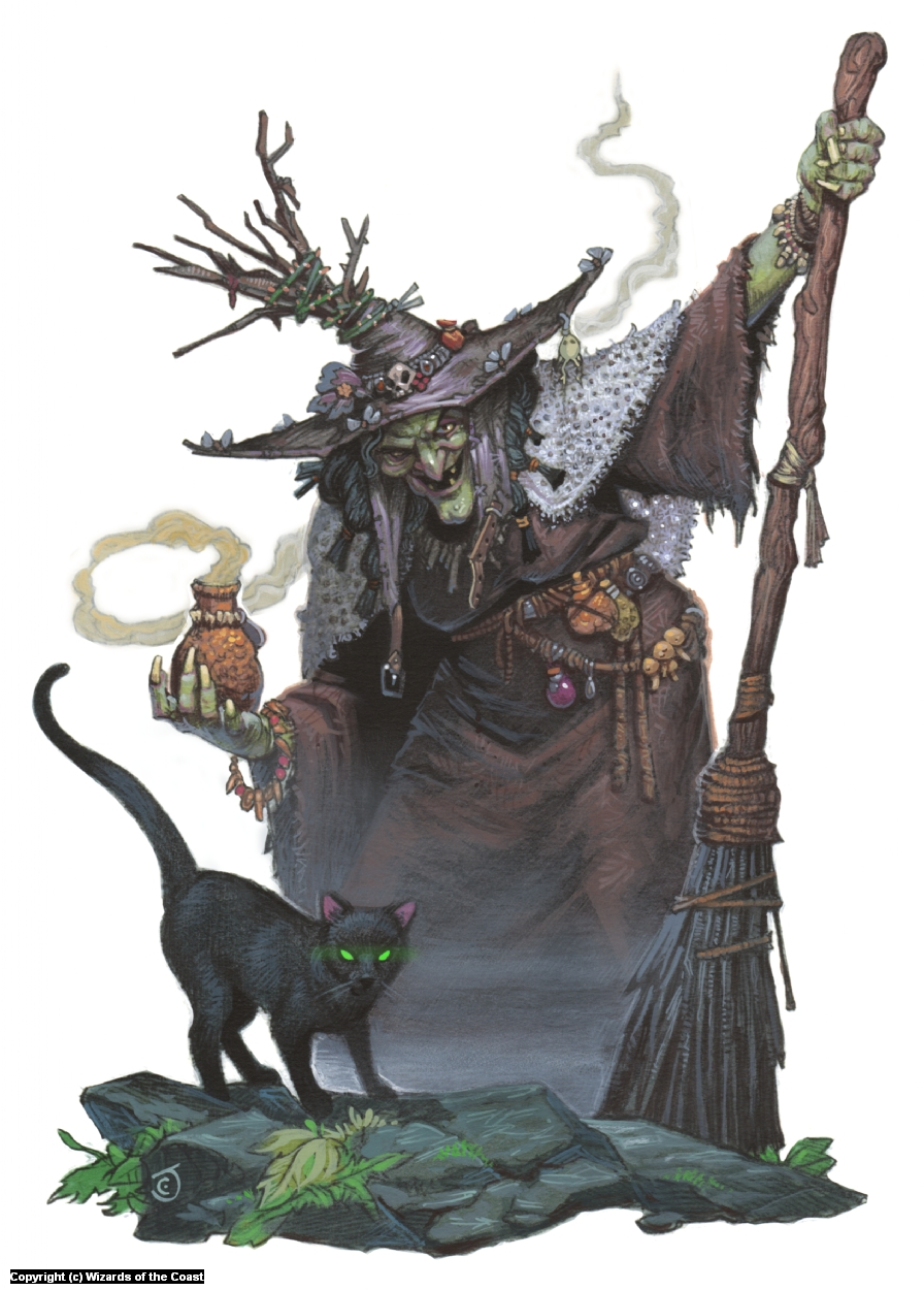Barovian Witch Artwork by Chris Seaman