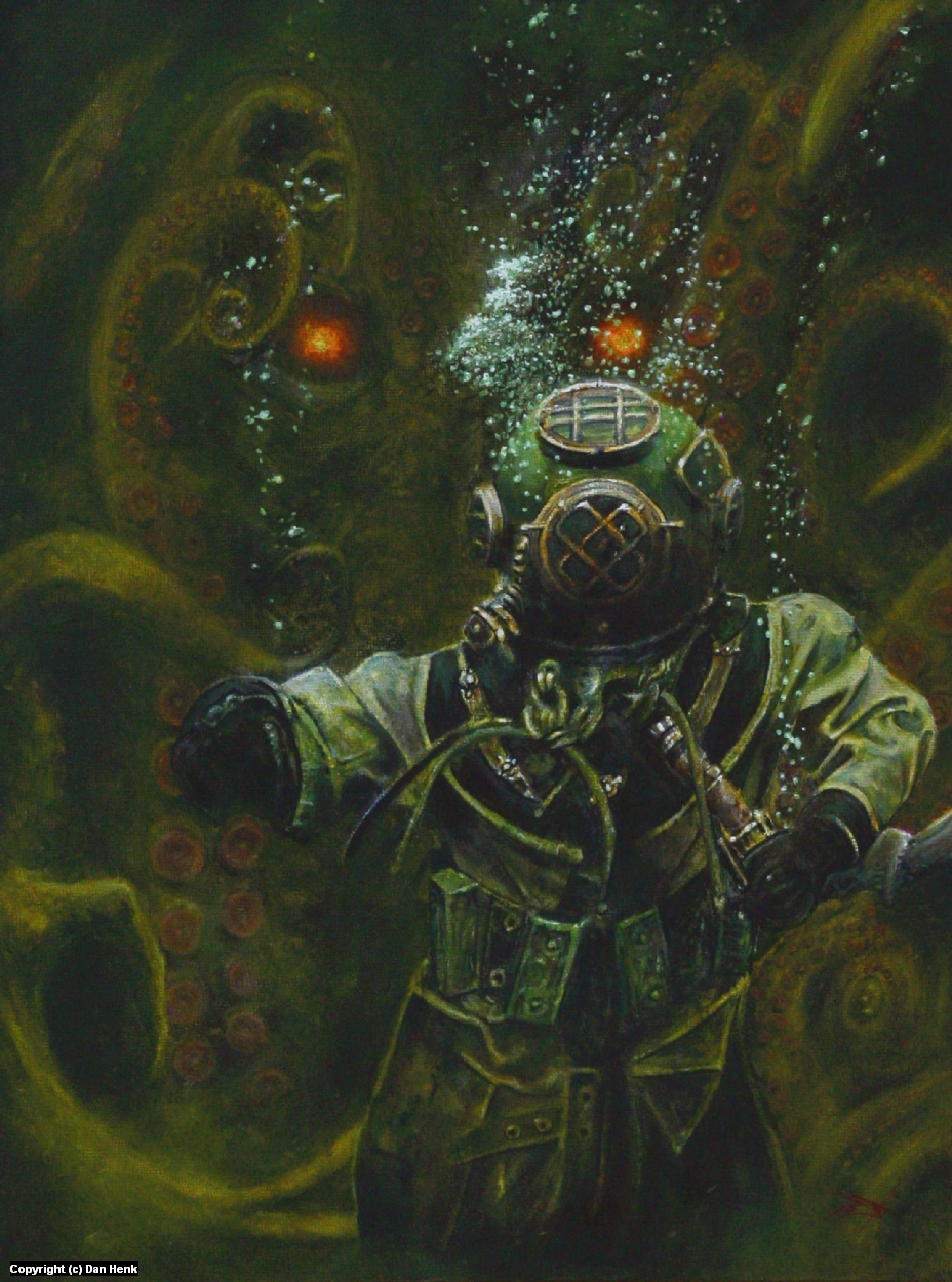 Cthulhu Rising Artwork by Dan Henk